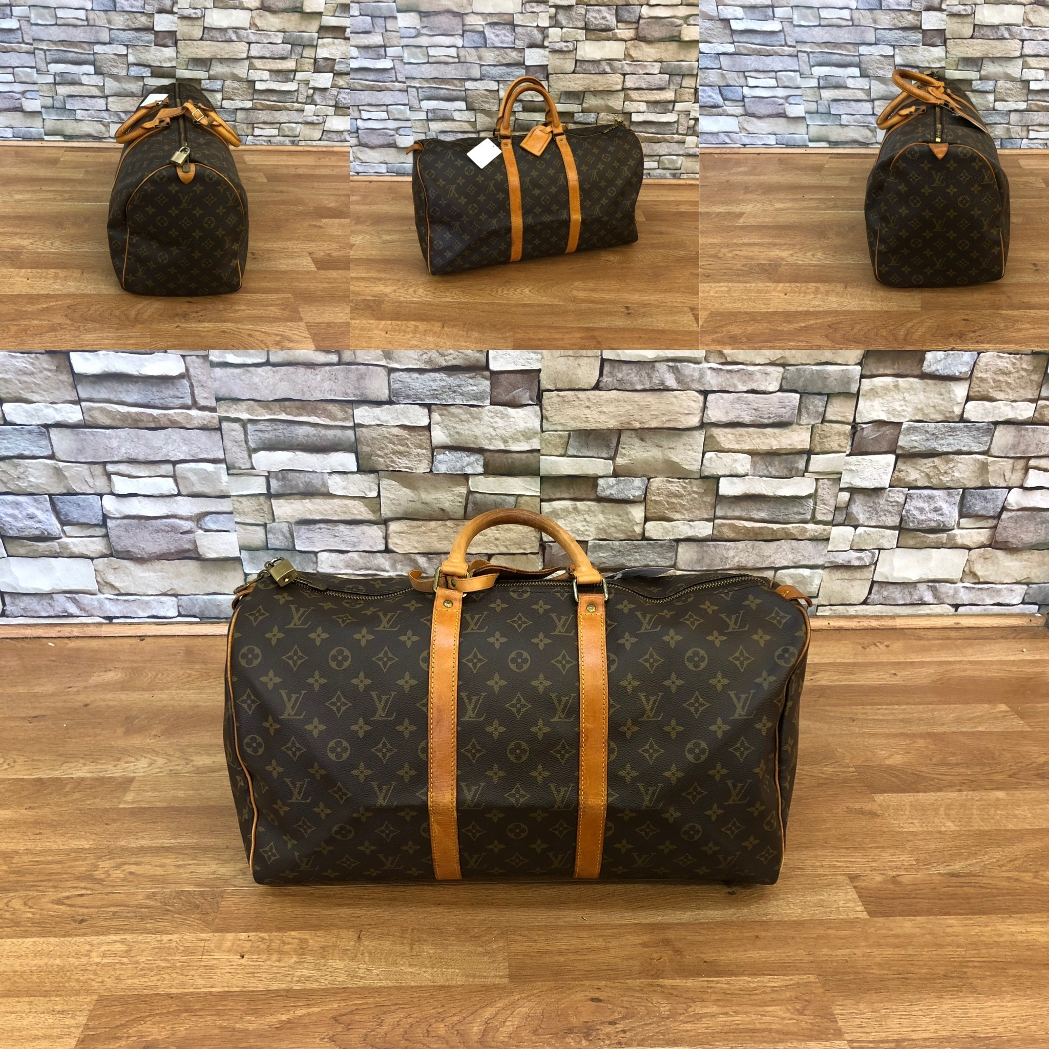 LOUIS VUITTON - Keepall 50 Pre-Loved and Entrupy Certified