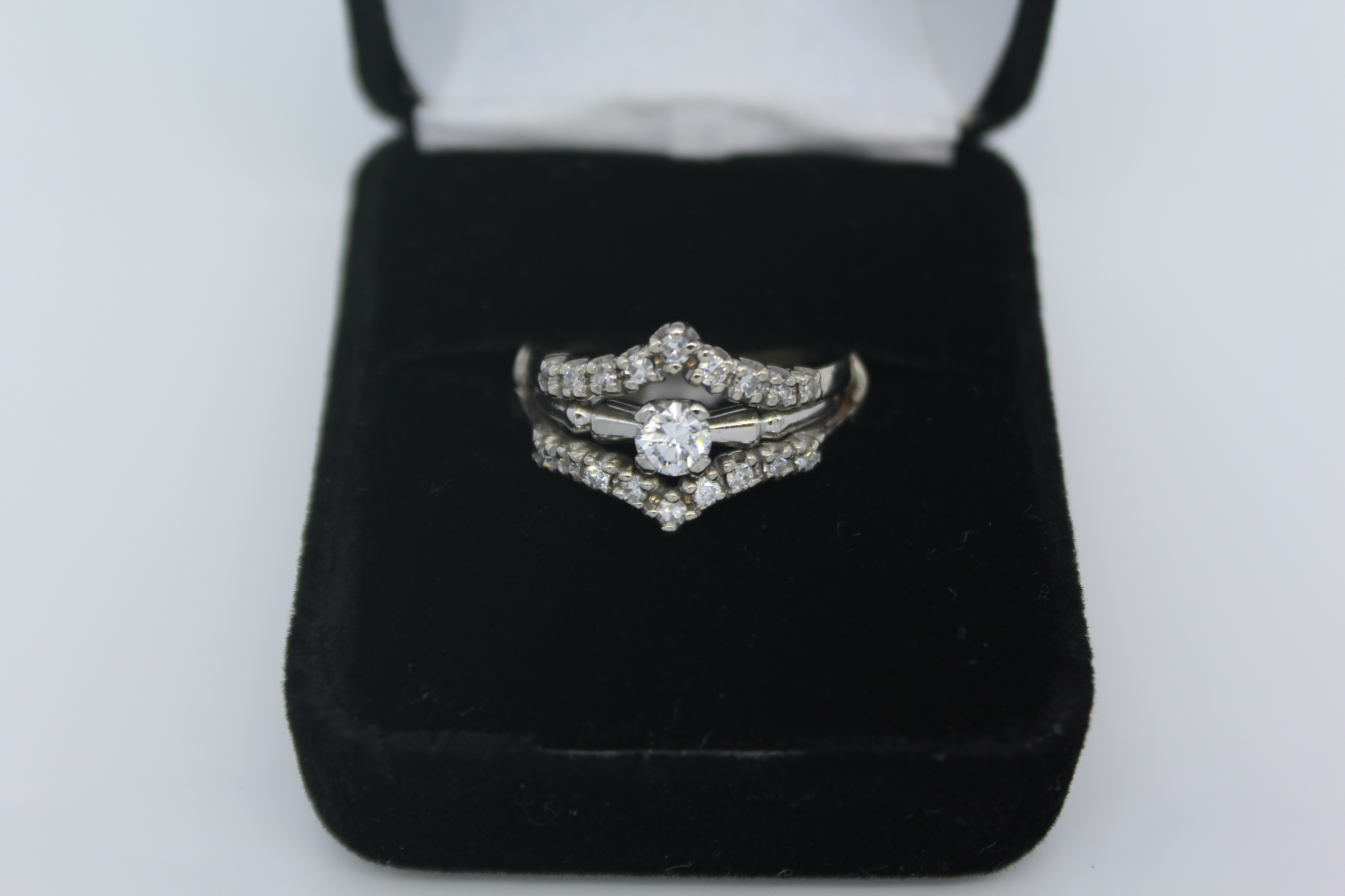 Platinum Diamond/Wedding Ring Set
