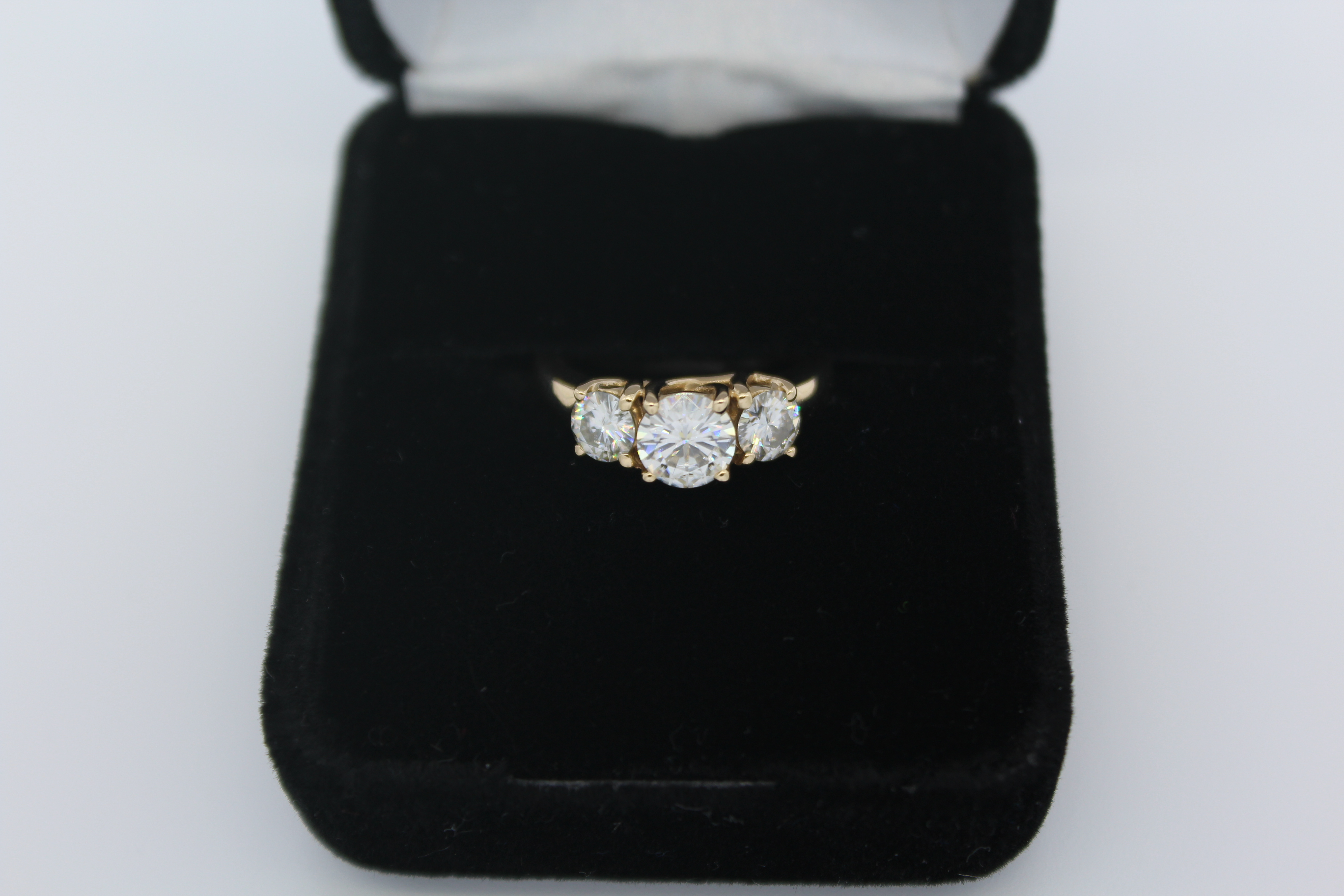 Yellow Gold Moissanite  Ring