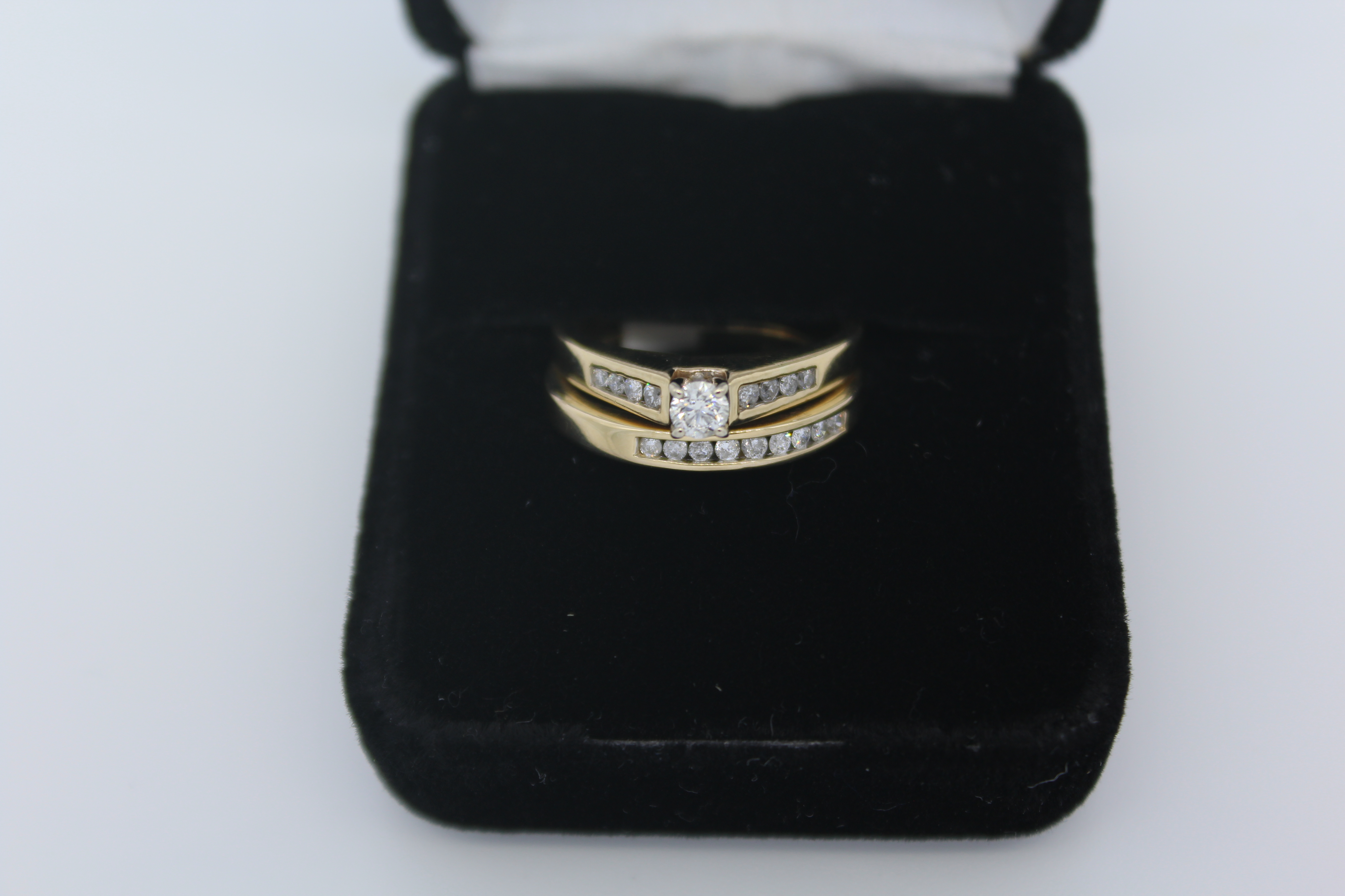 Yellow Gold Diamond Engagement/Wedding Ring Set