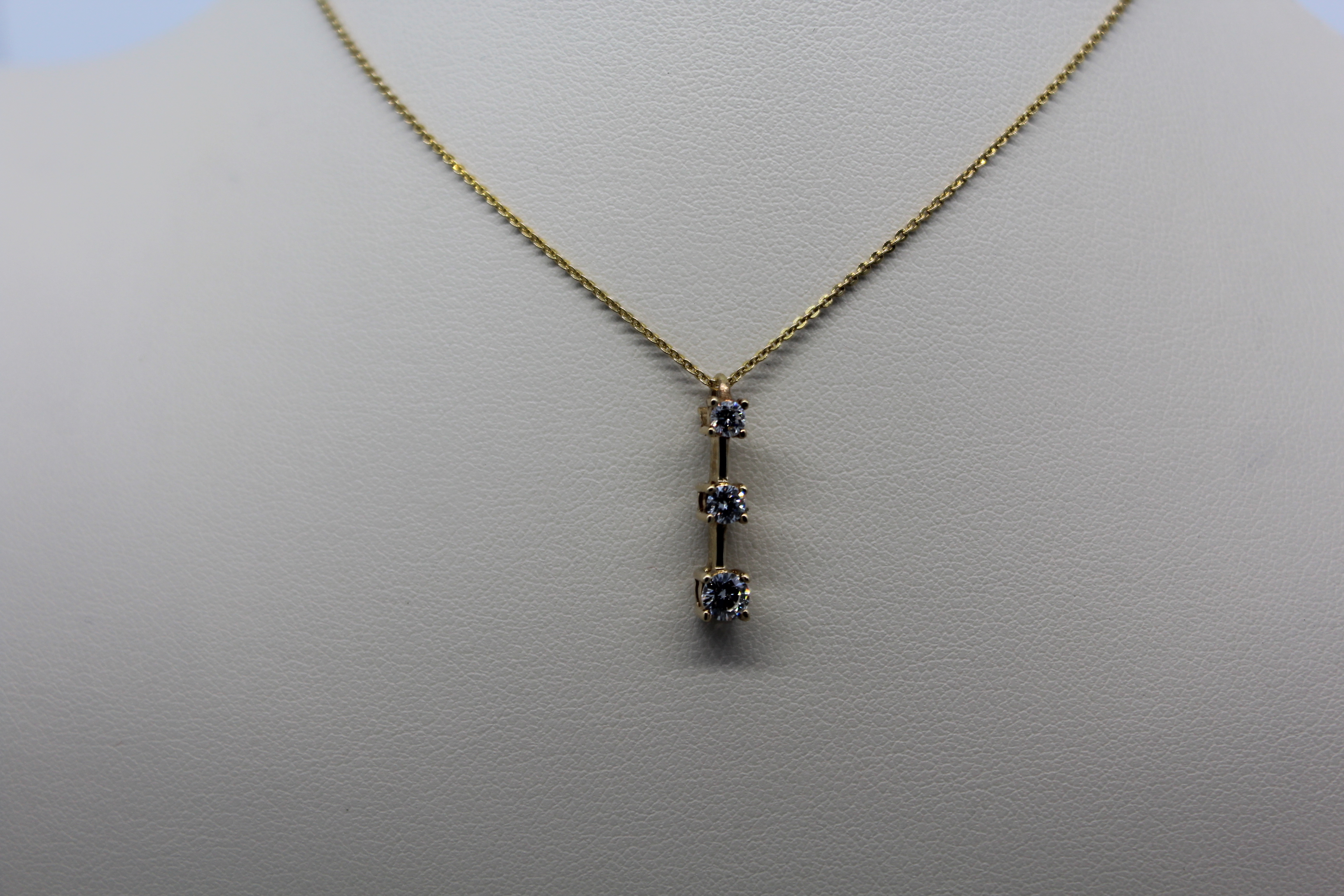Yellow Gold & Diamond Necklace
