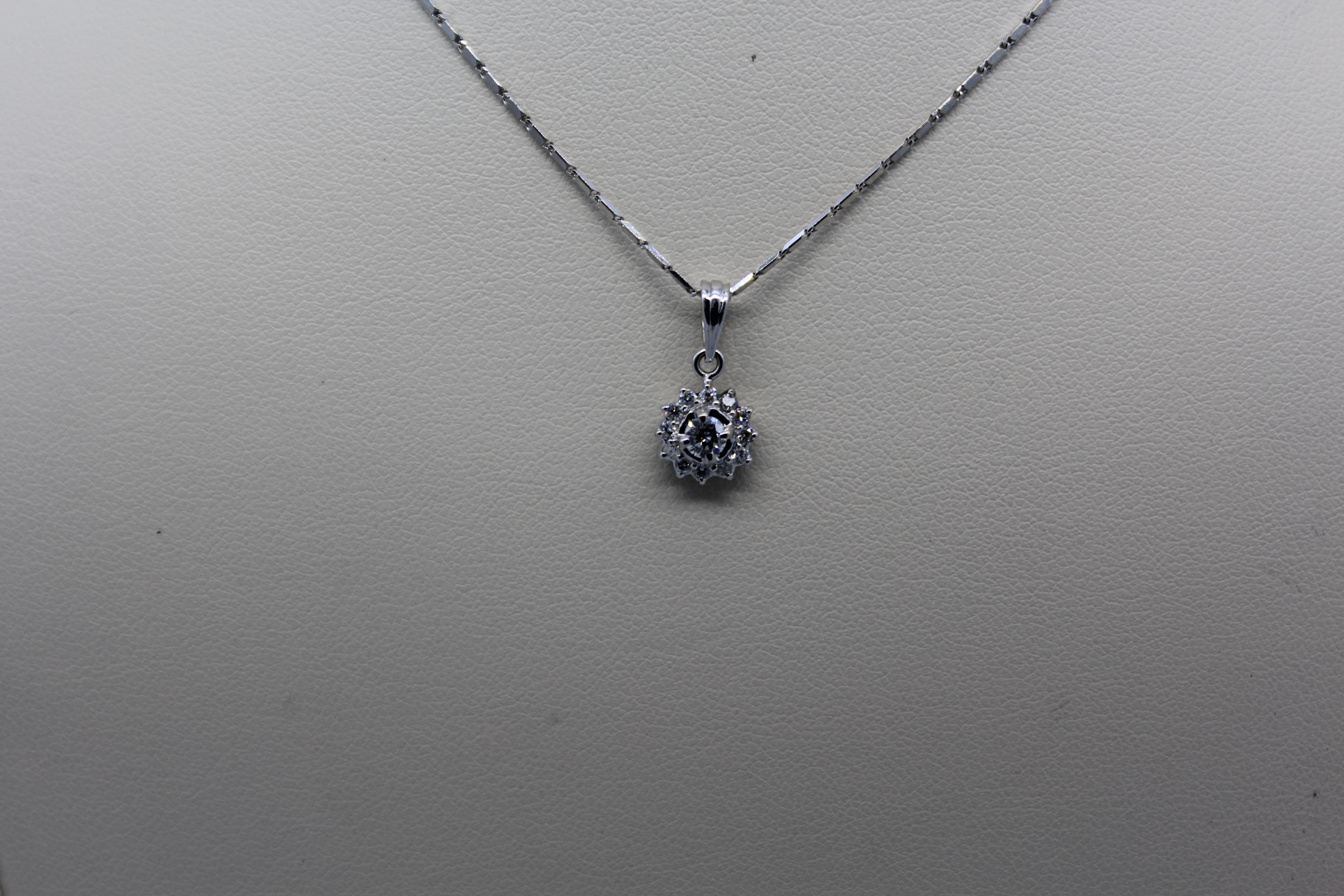 White Gold & Diamond Necklace