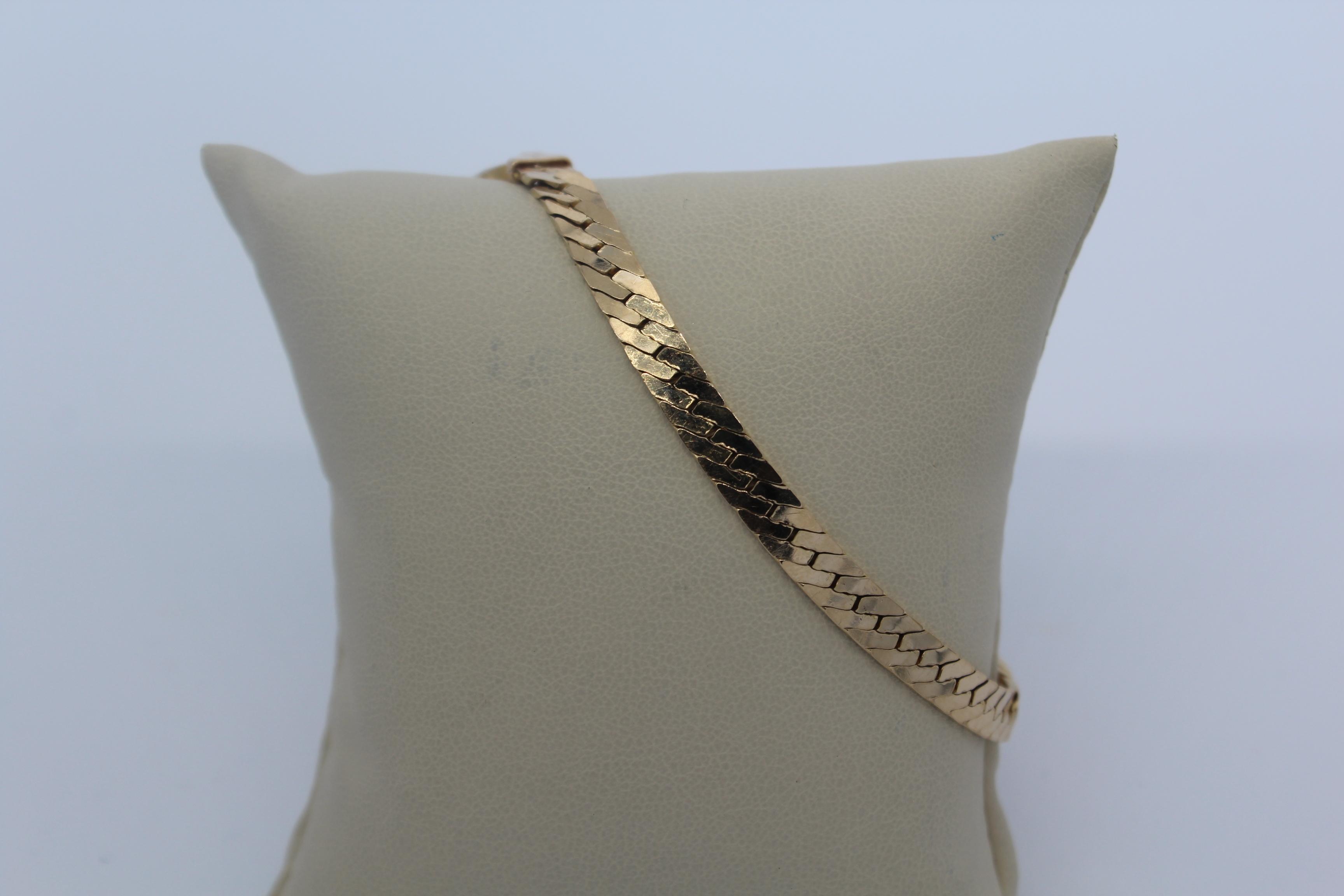 14K Serpentine Men's Bracelet