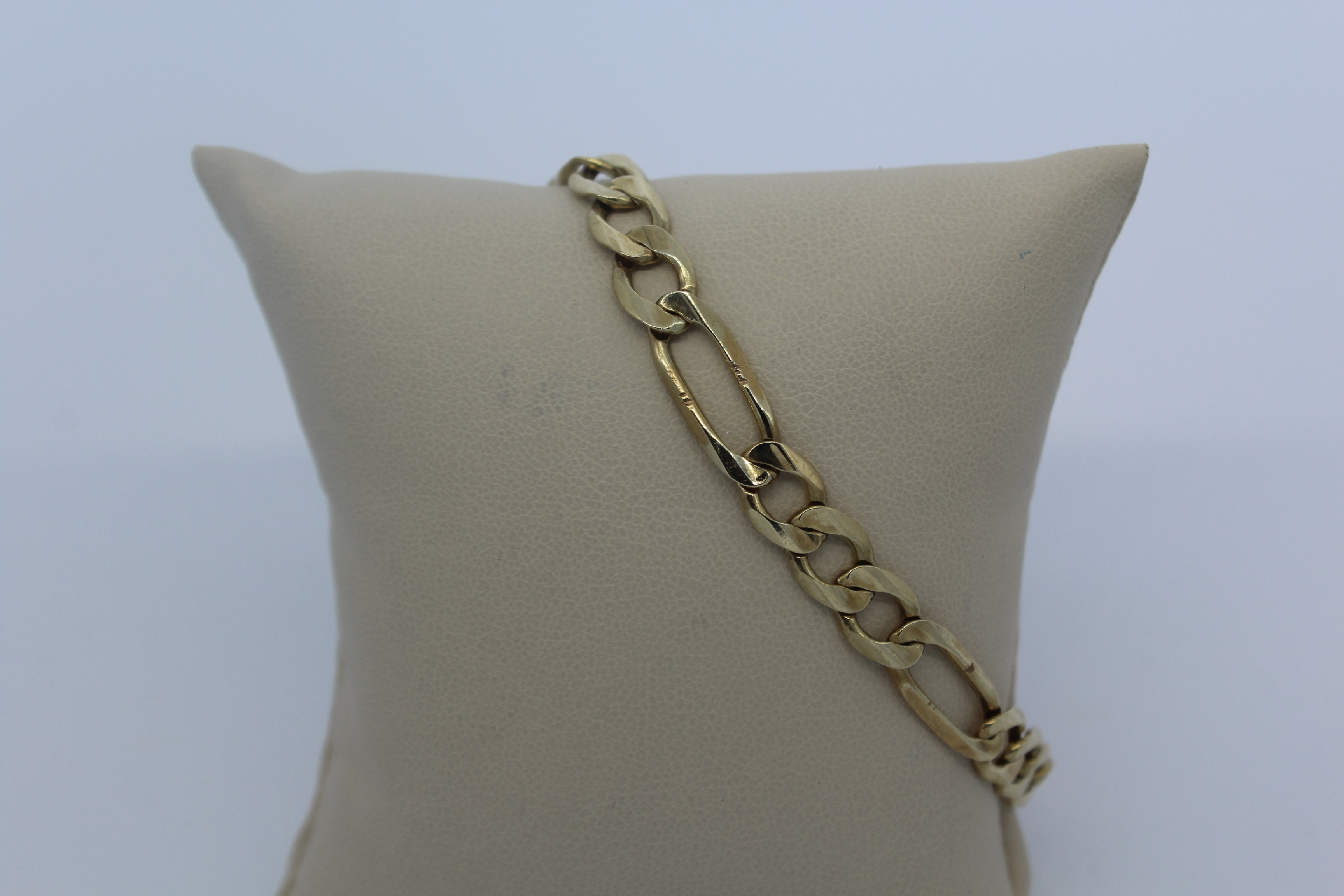10K Figaro Men's Bracelet