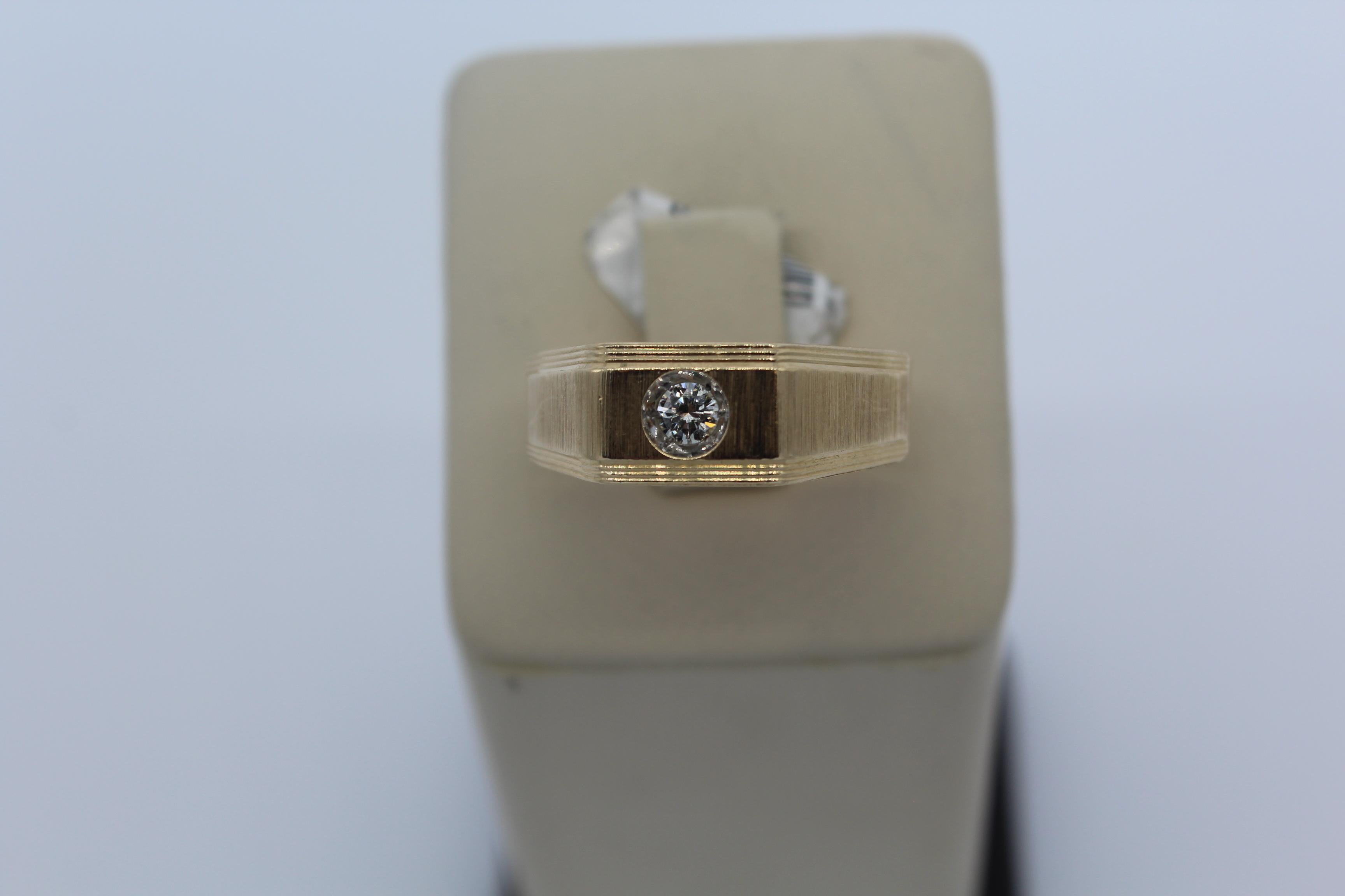 14K Yellow Gold Men's Ring