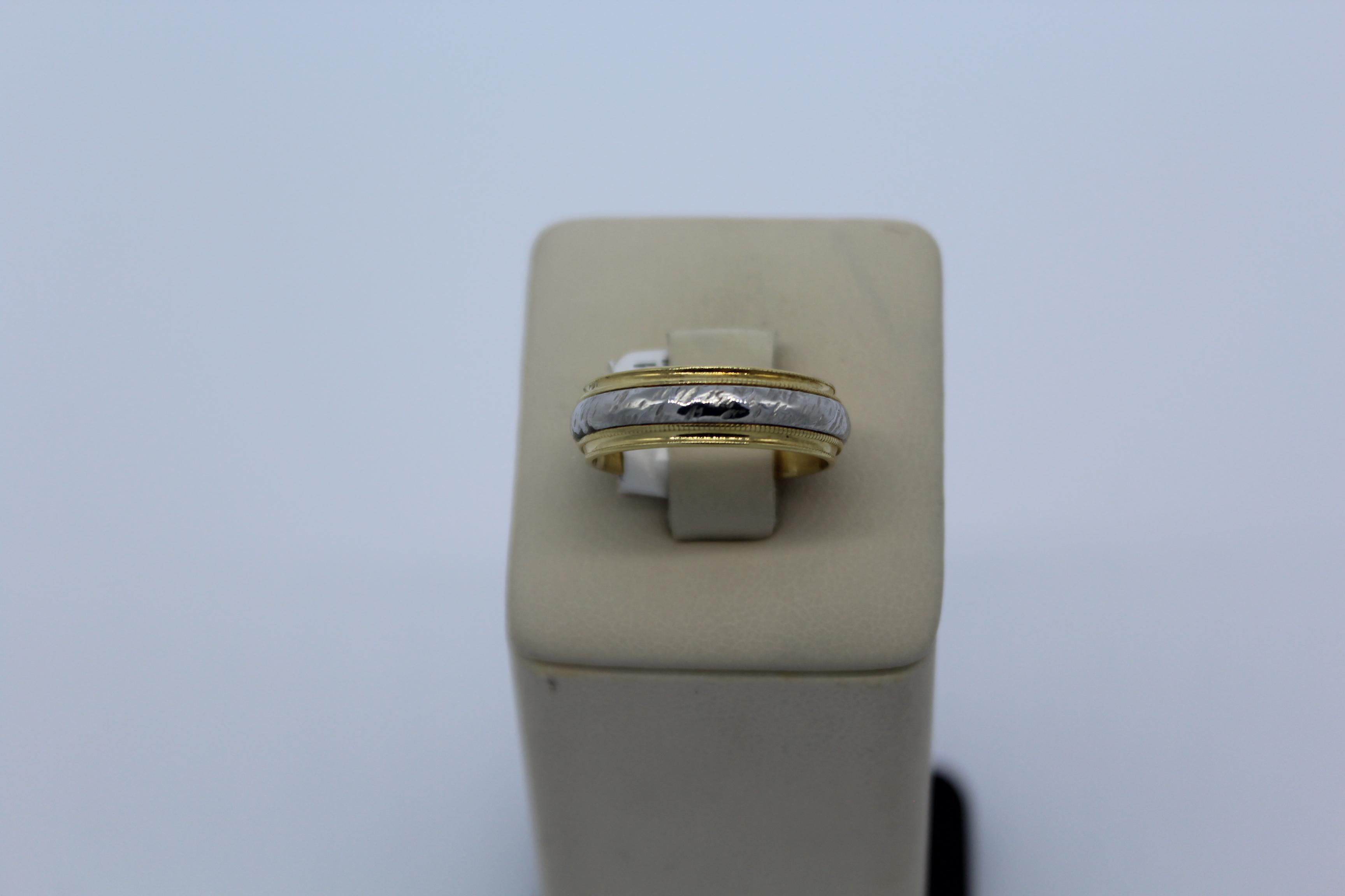 18K Yellow Gold & Platinum Men's Ring