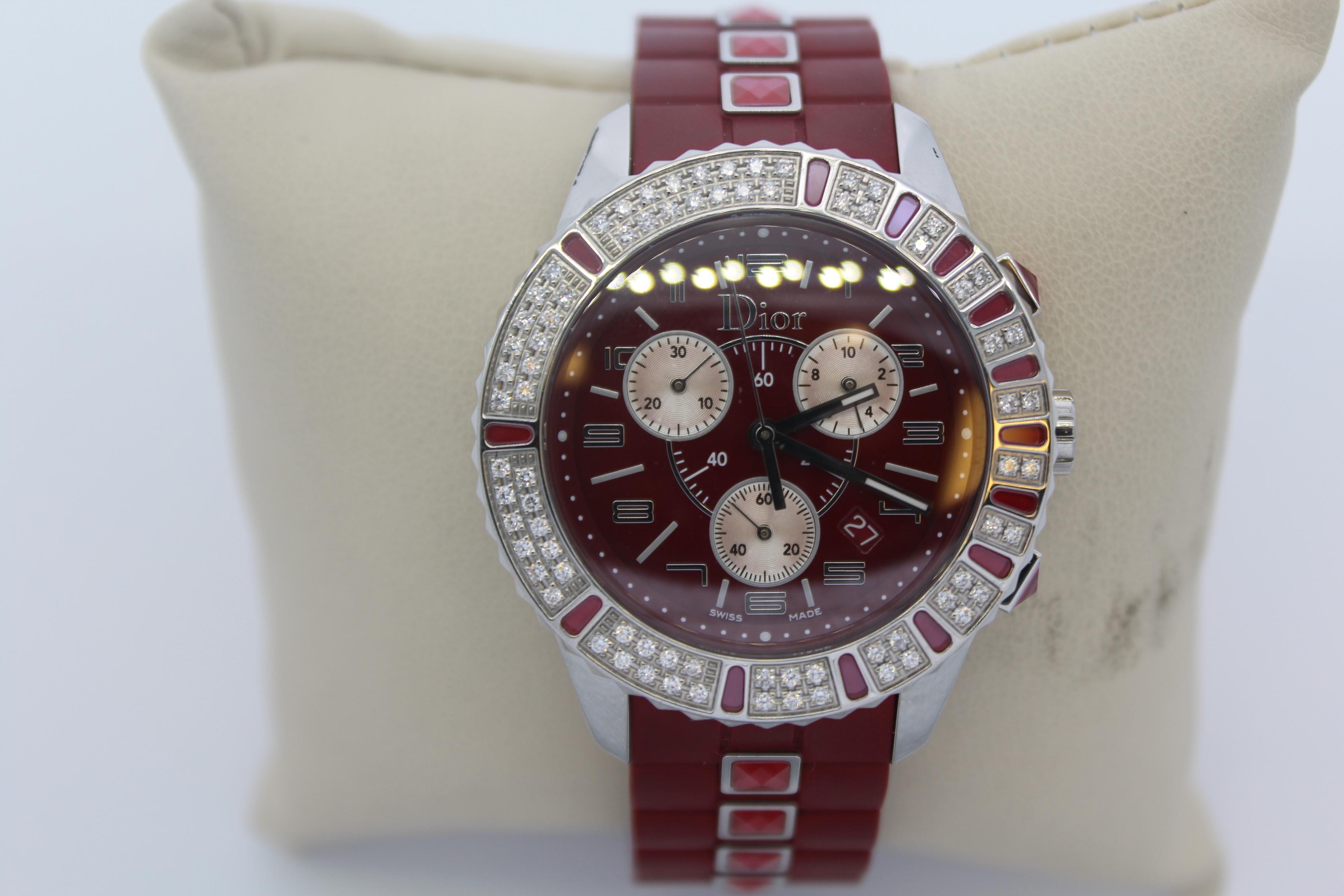 Women's Red Dior Watch
