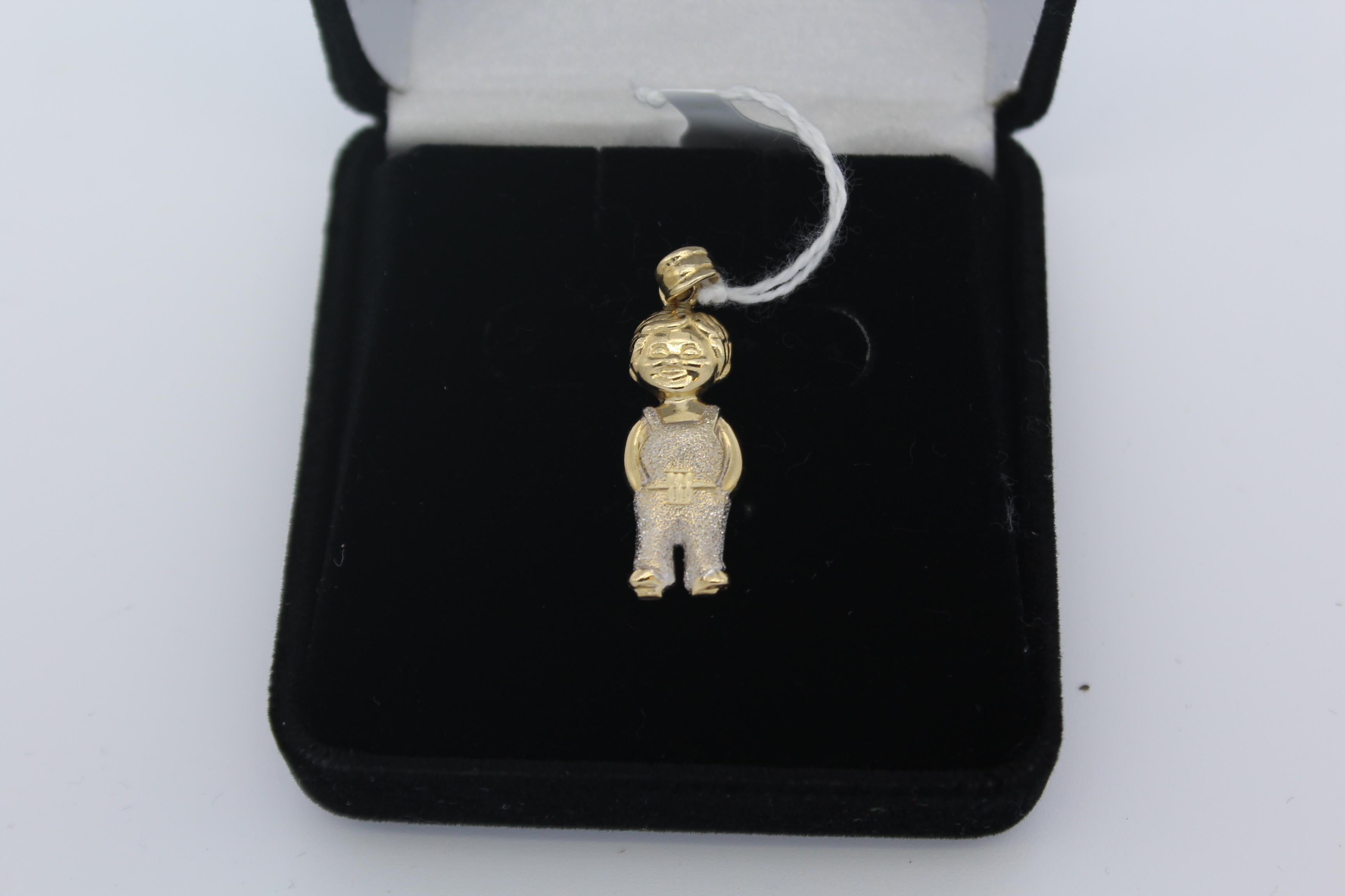 14K Yellow Gold Figure of a Boy Pendant