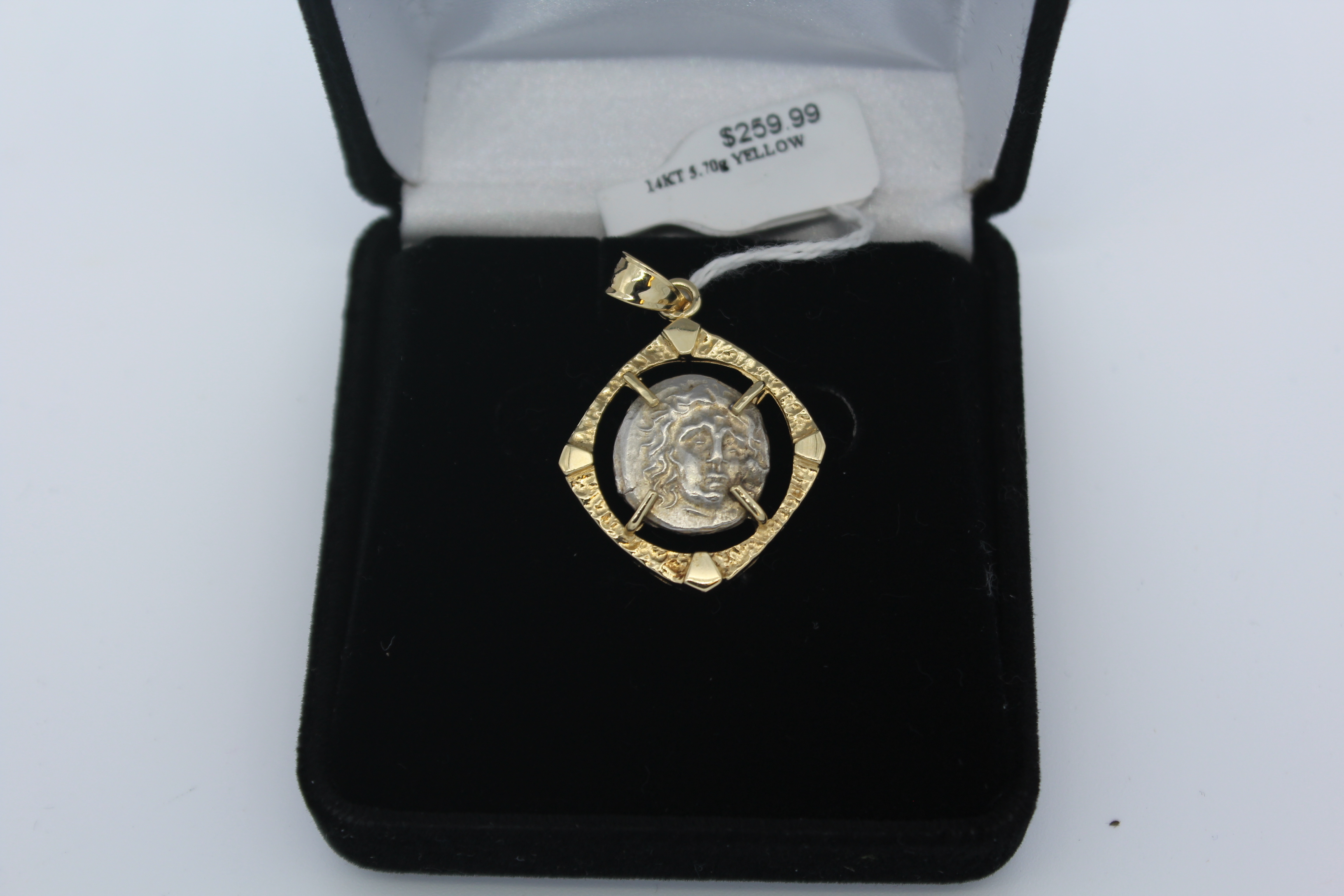 14K Yellow Gold Face Pendant