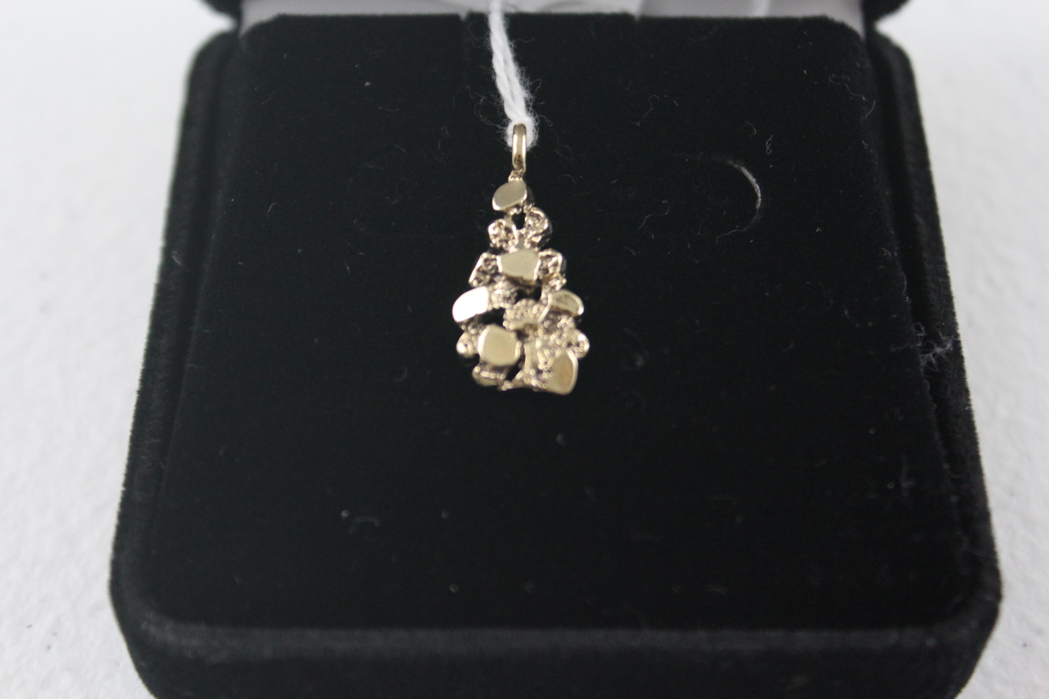 10K Yellow Gold Nugget Pendant