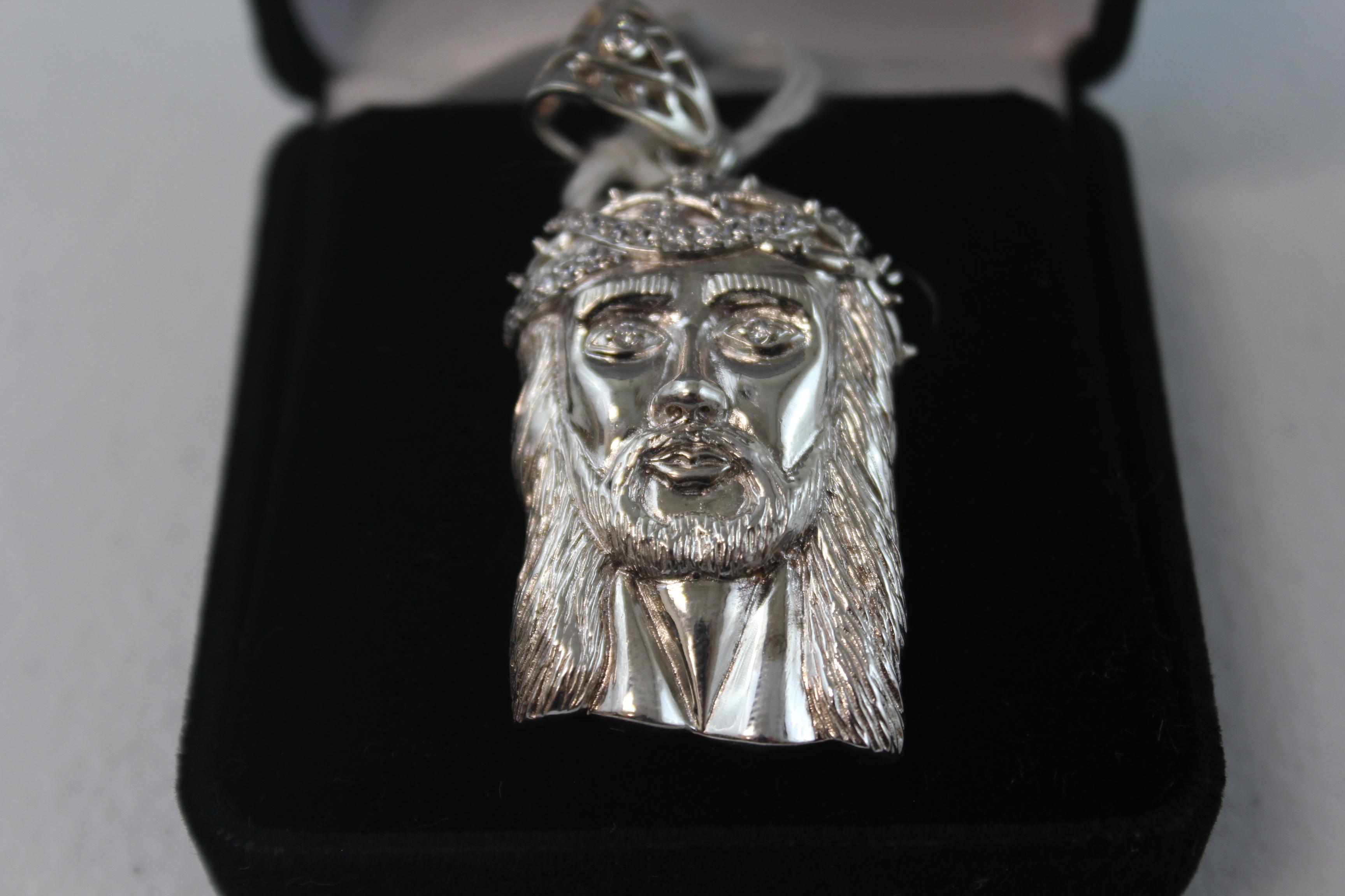 Sterling Silver Jesus Pendant/Charm