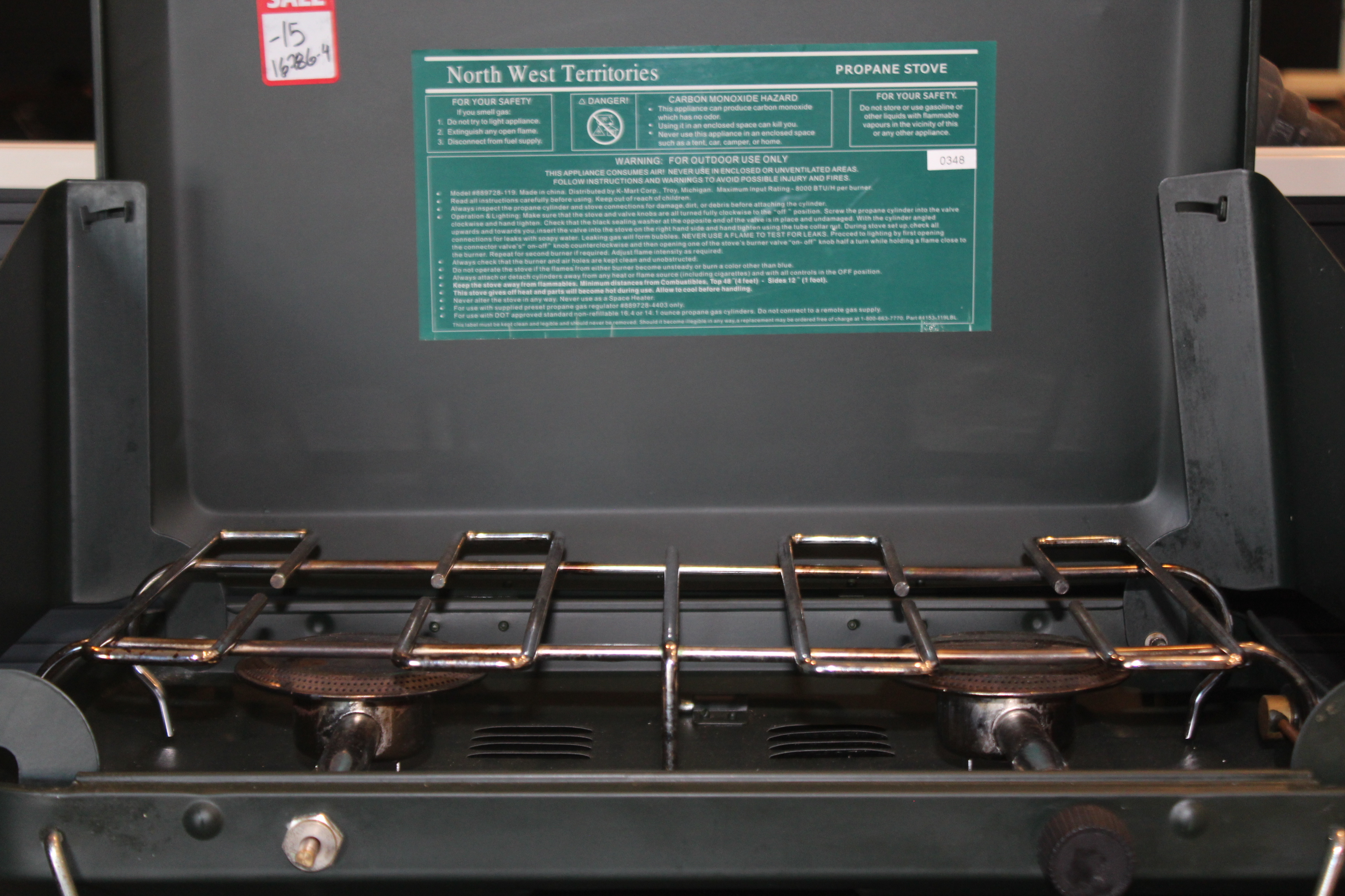 North West Territories Propane Table Stove