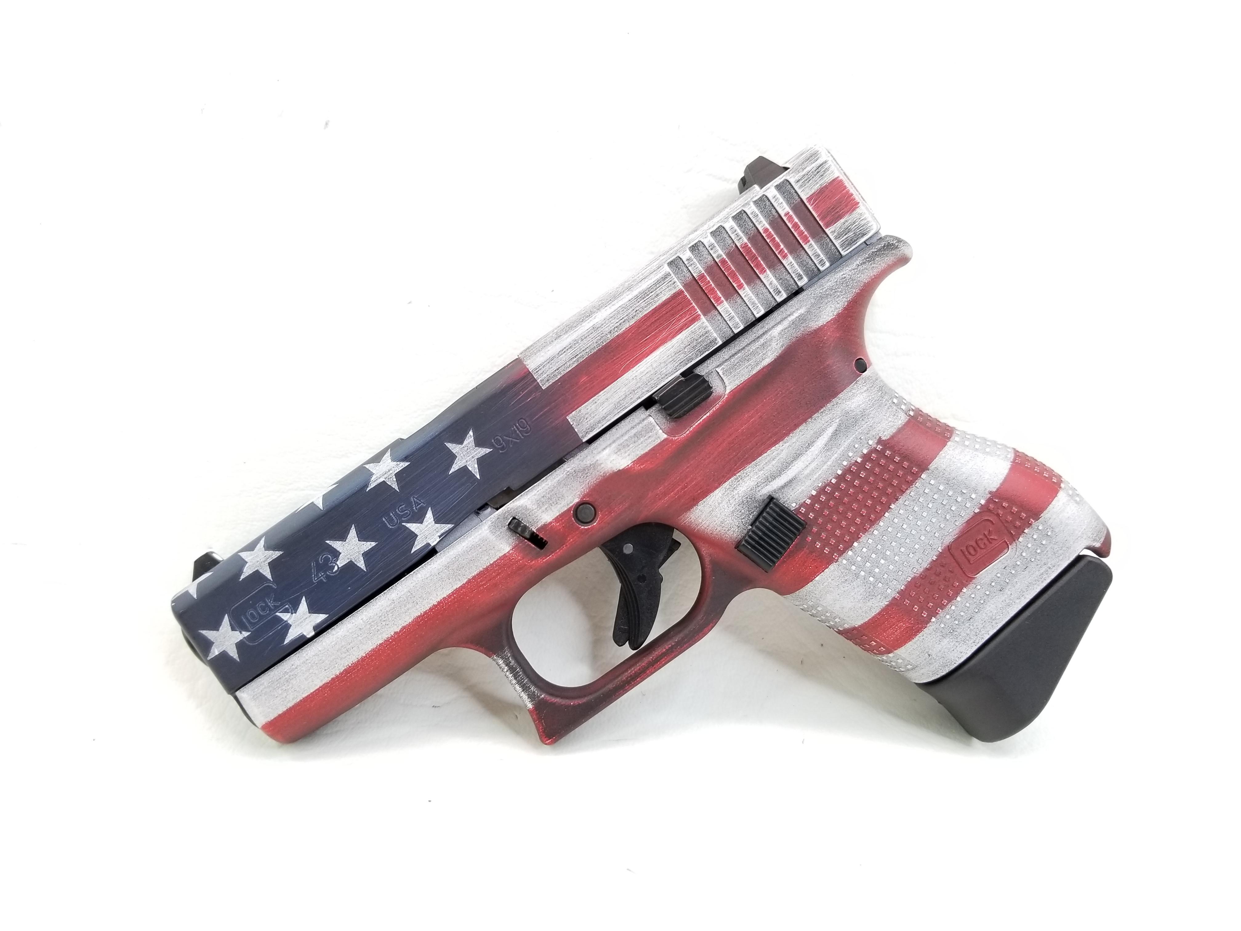 Glock G43 Battleworn American Flag 6rd NIB-img-0