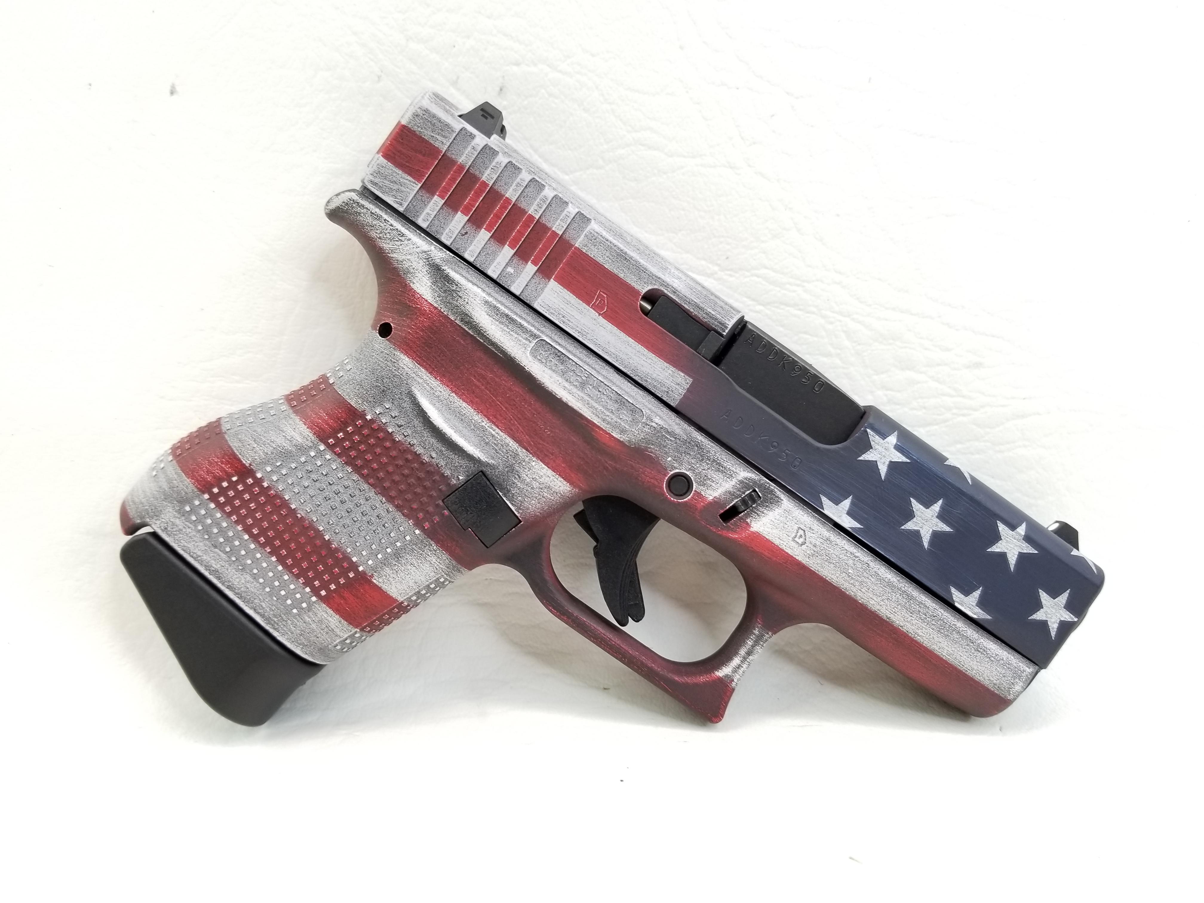 Glock G43 Battleworn American Flag 6rd NIB-img-1