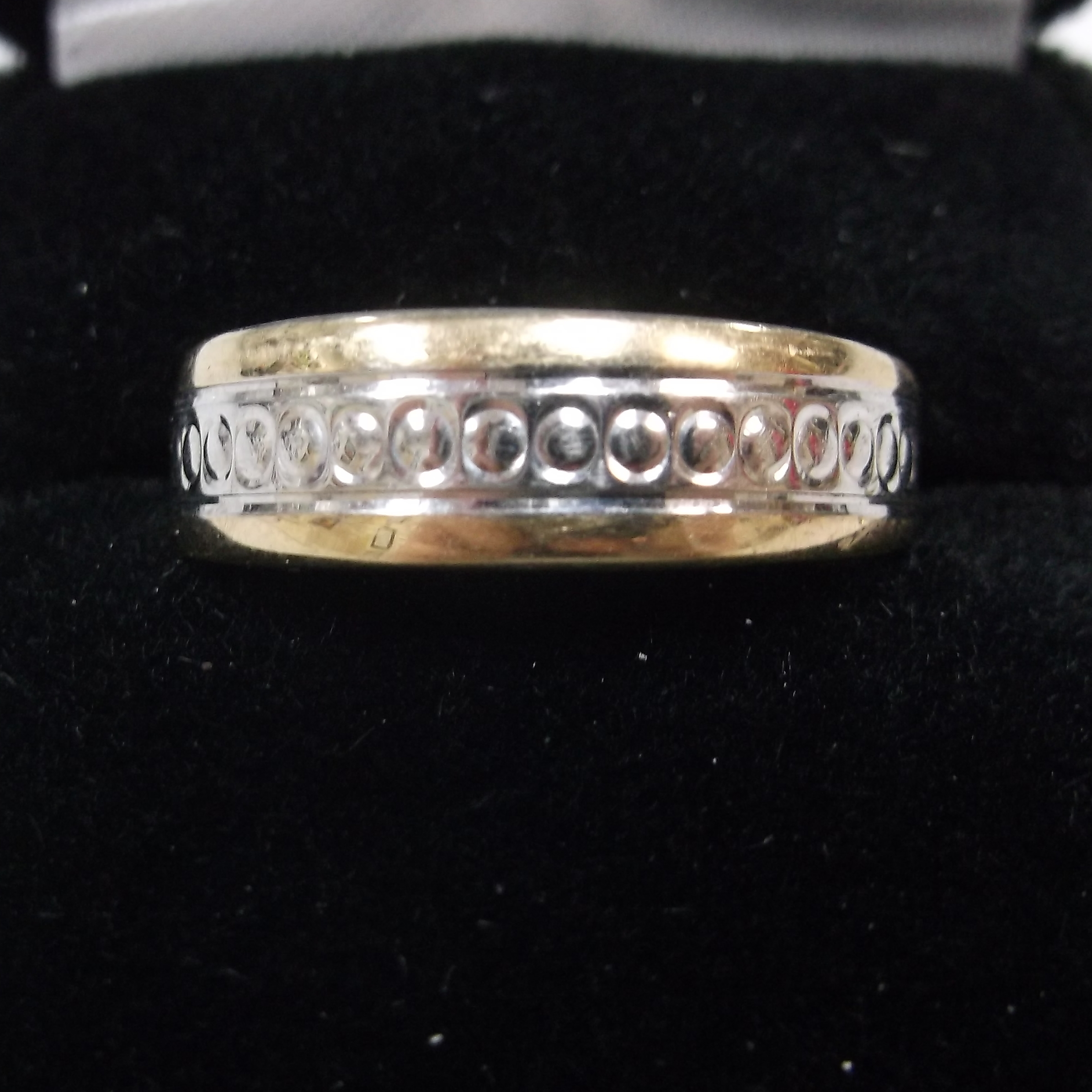 Sterling Silver Men's Band With Designs