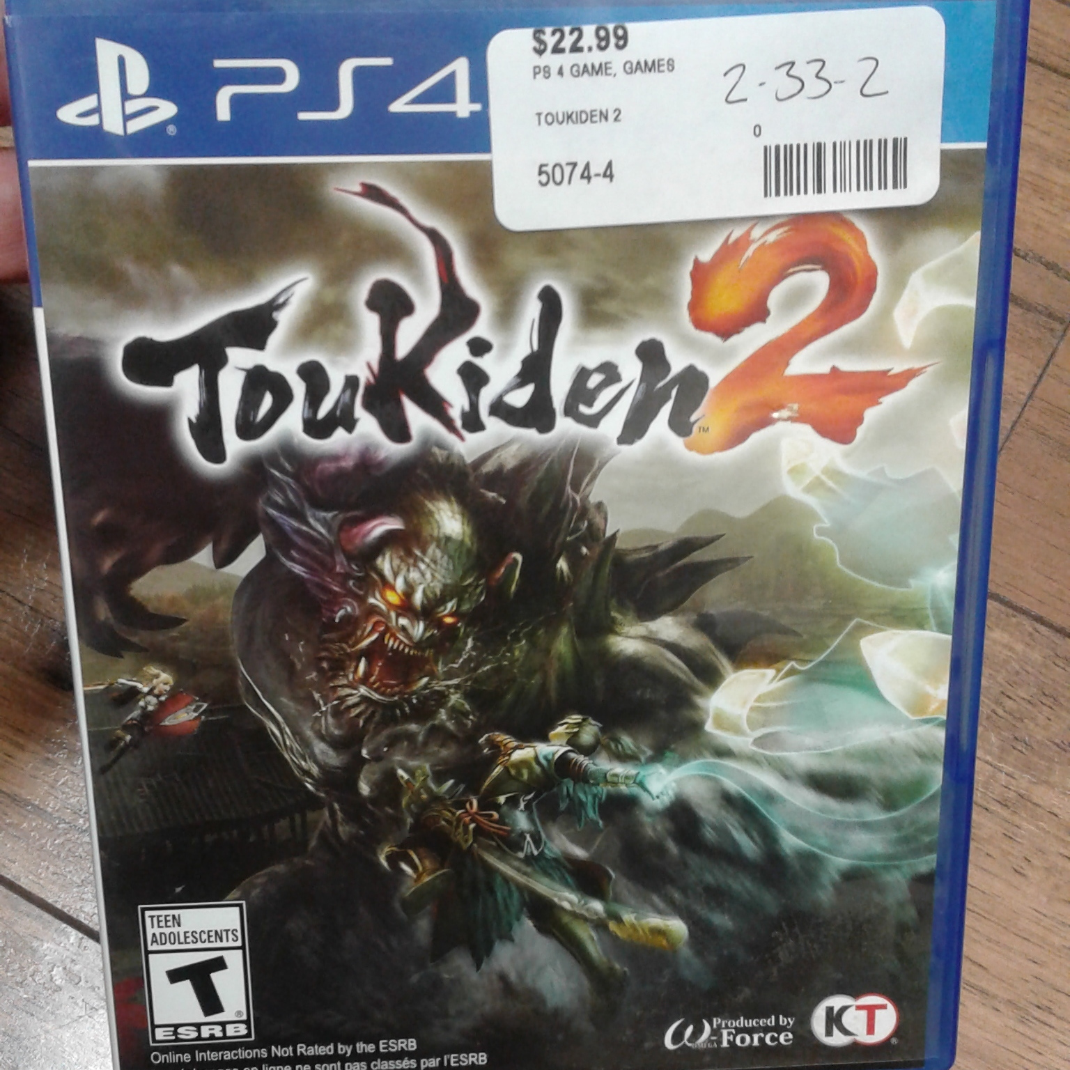 TOUKIDEN 2 - PS4 GAME