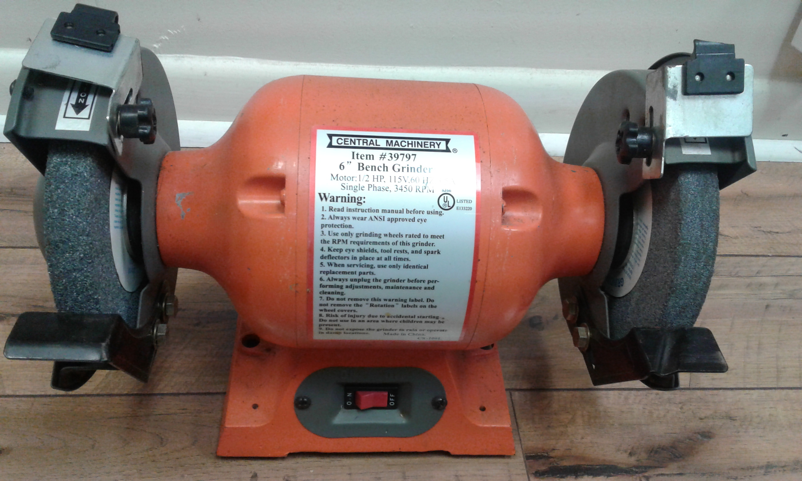 CENTRAL MACHINERY - BENCH GRINDER TOOLS