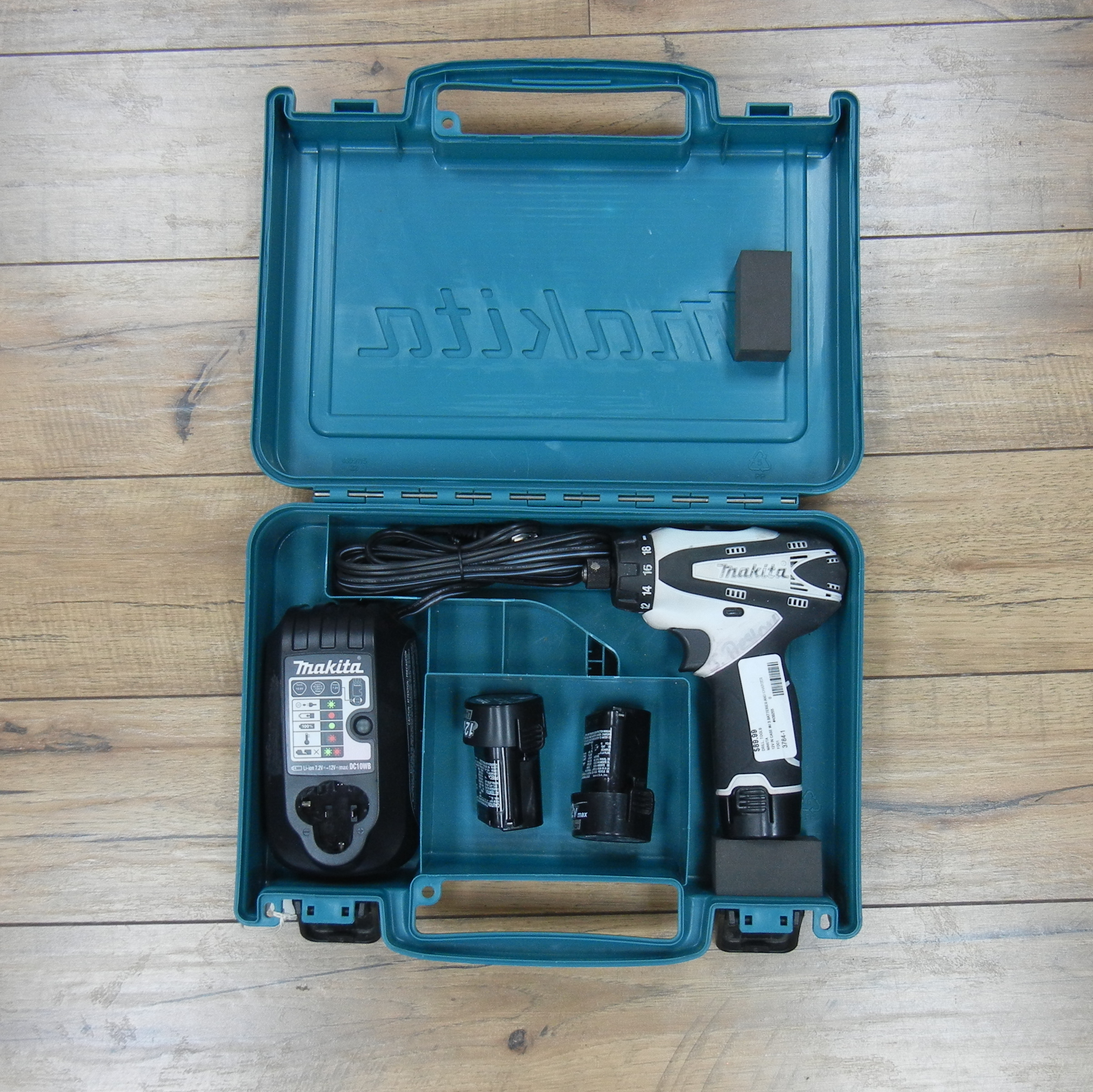MAKITA DRILL MODEL FD01 WITH TWO EXTRA BATTERIES
