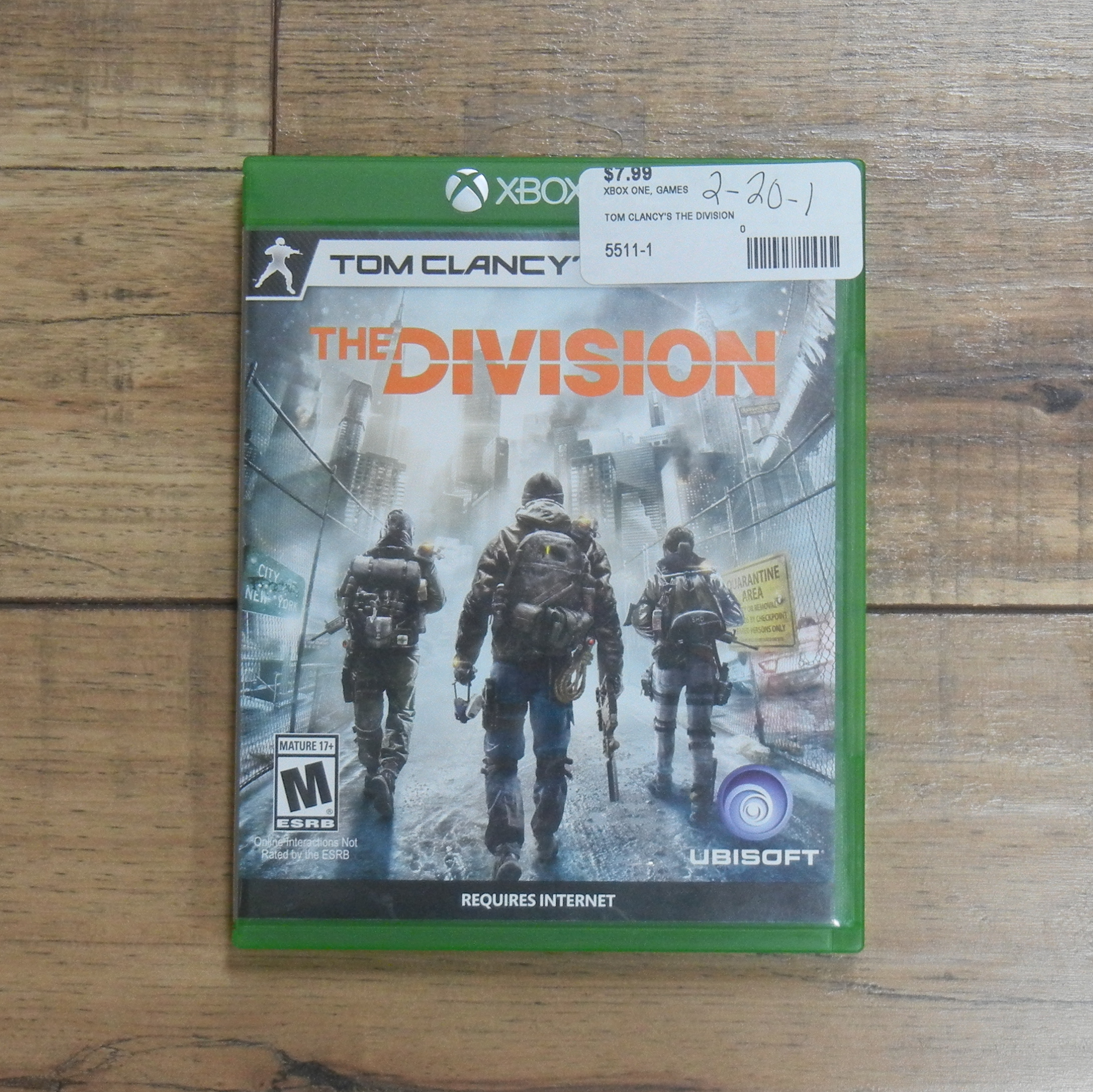 TOM CLANCY'S THE DIVISION XBOX ONE GAMES