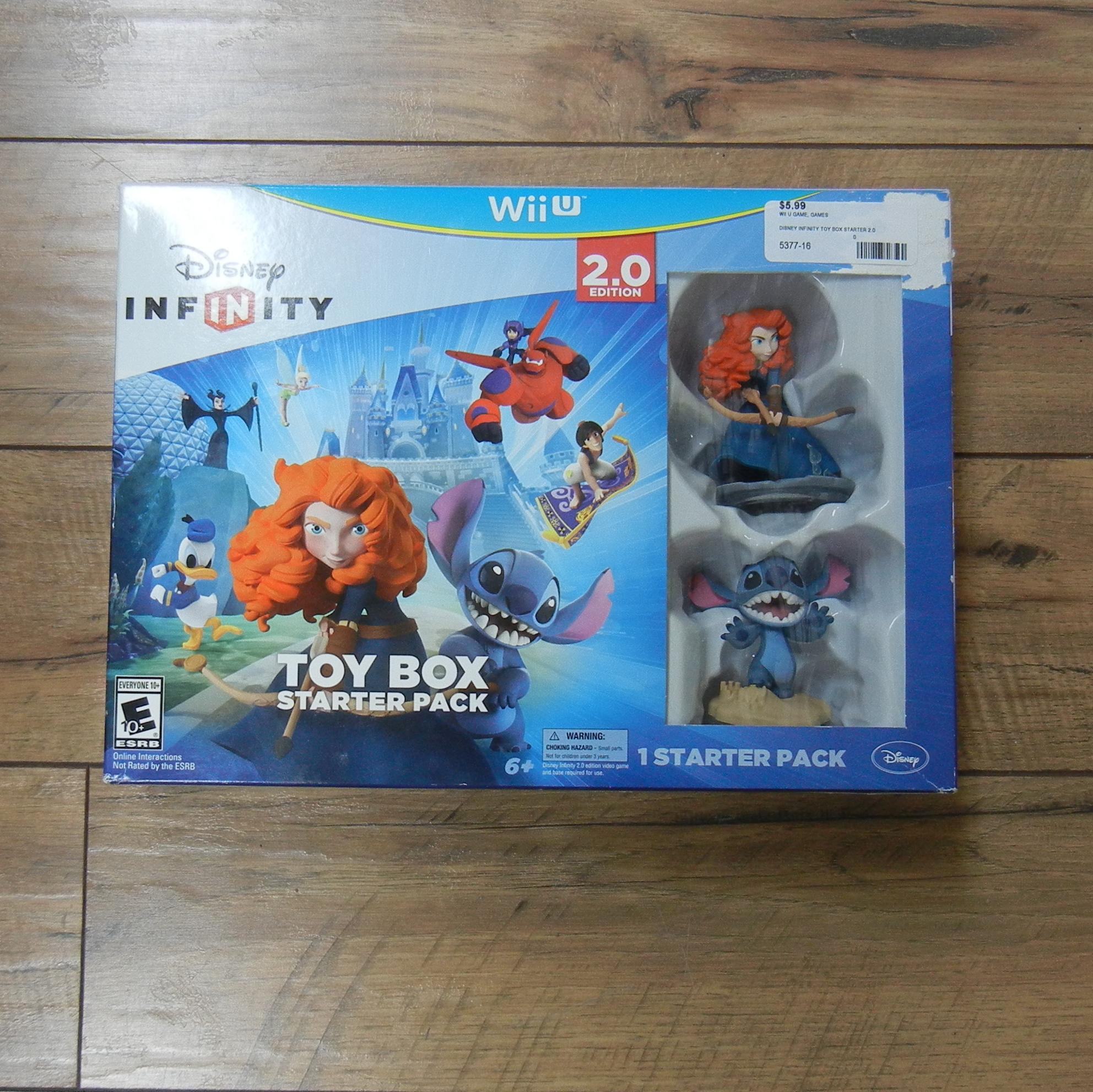 DISNEY INFINITY TOY BOX STARTER 2.0 WII U GAME