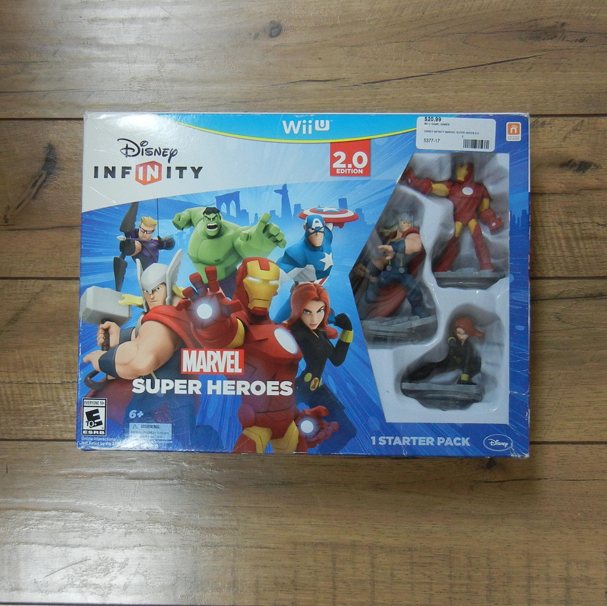 DISNEY INFINITY MARVEL SUPER HEROES 2.0 WII U GAME