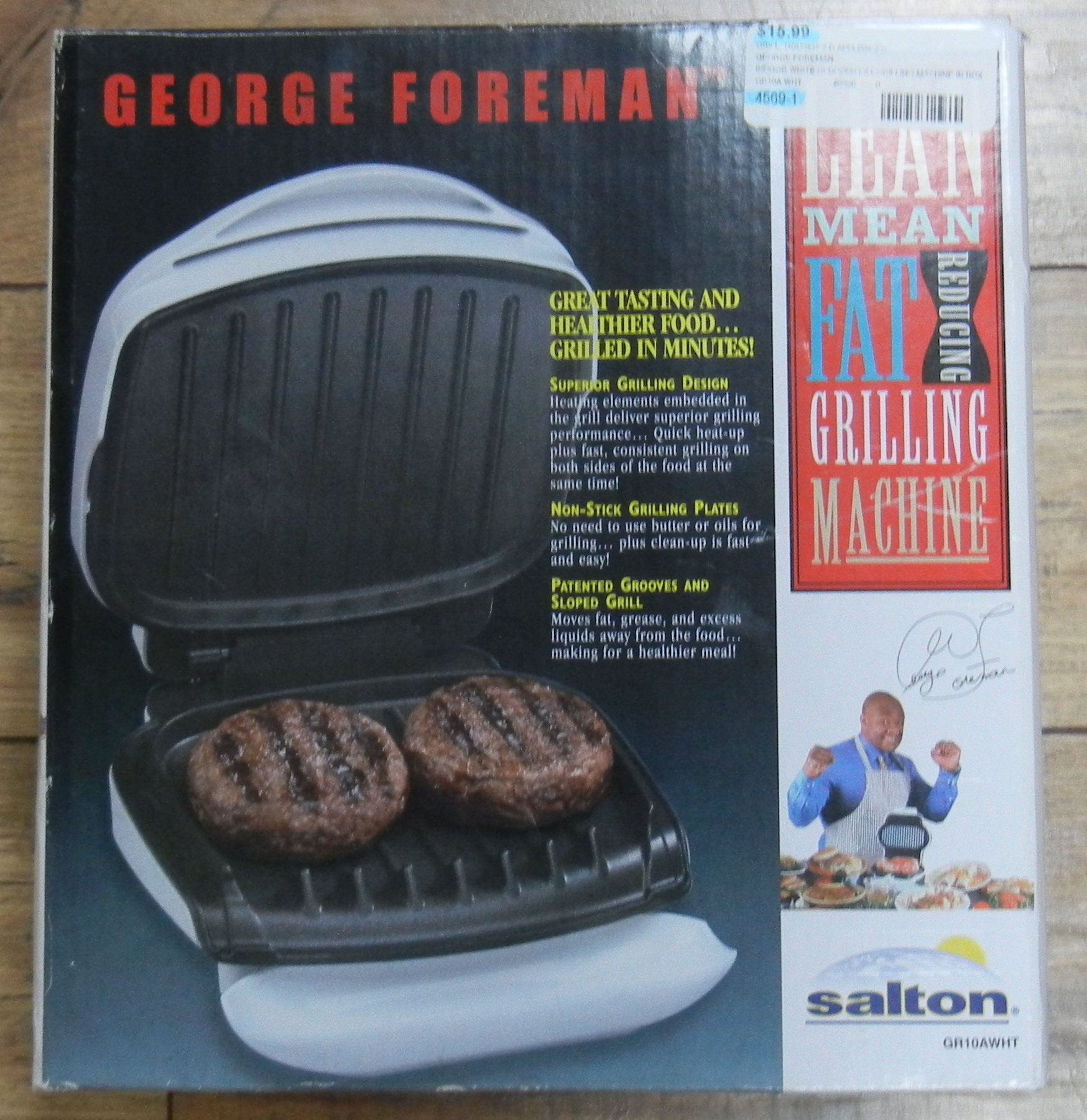 GEORGE FOREMAN - GR10A WHT - INDOOR WHITE REDUCED FAT GRILLING MACHINE