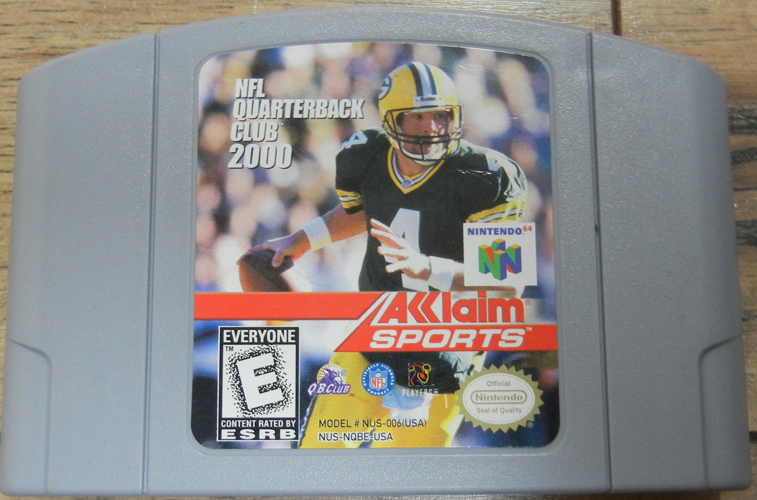 NINTENDO 64 NFL QUARTERBACK 2000