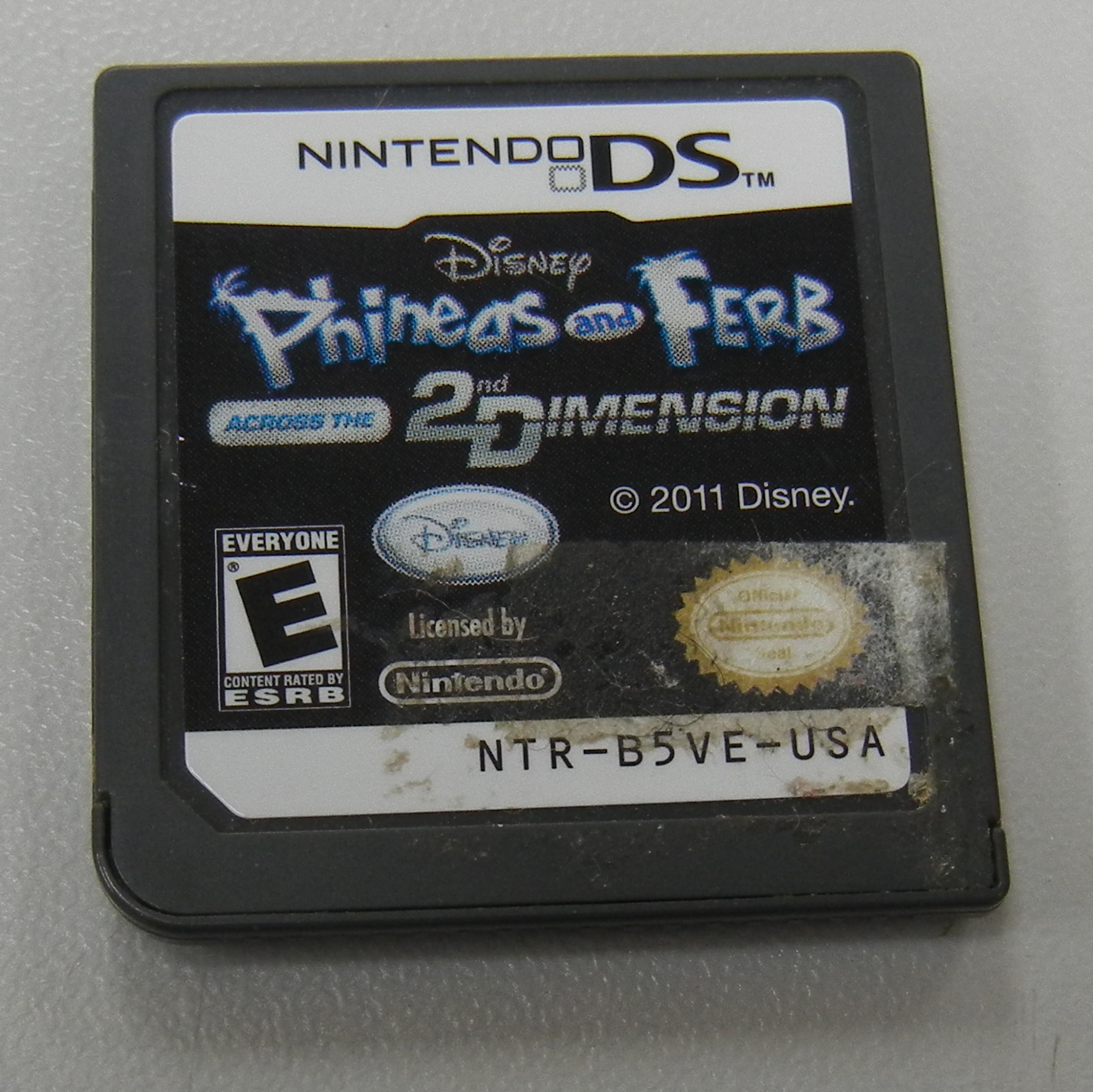 PHINEAS AND FERB ACROSS THE 2ND DIMENSION DS GAME