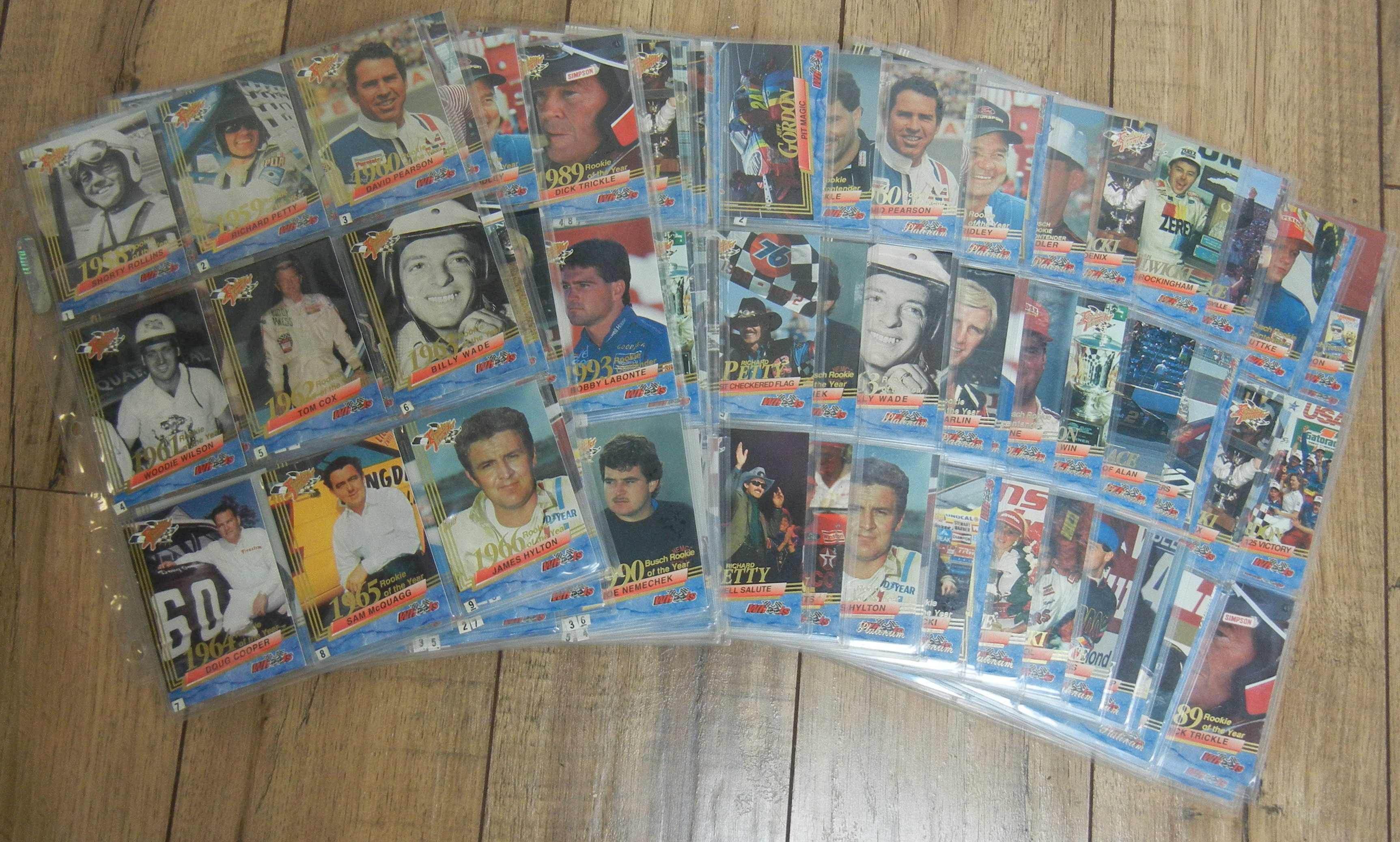 225 ASSORTED NASCAR ROOKIE CARDS - COLLECTIBLES