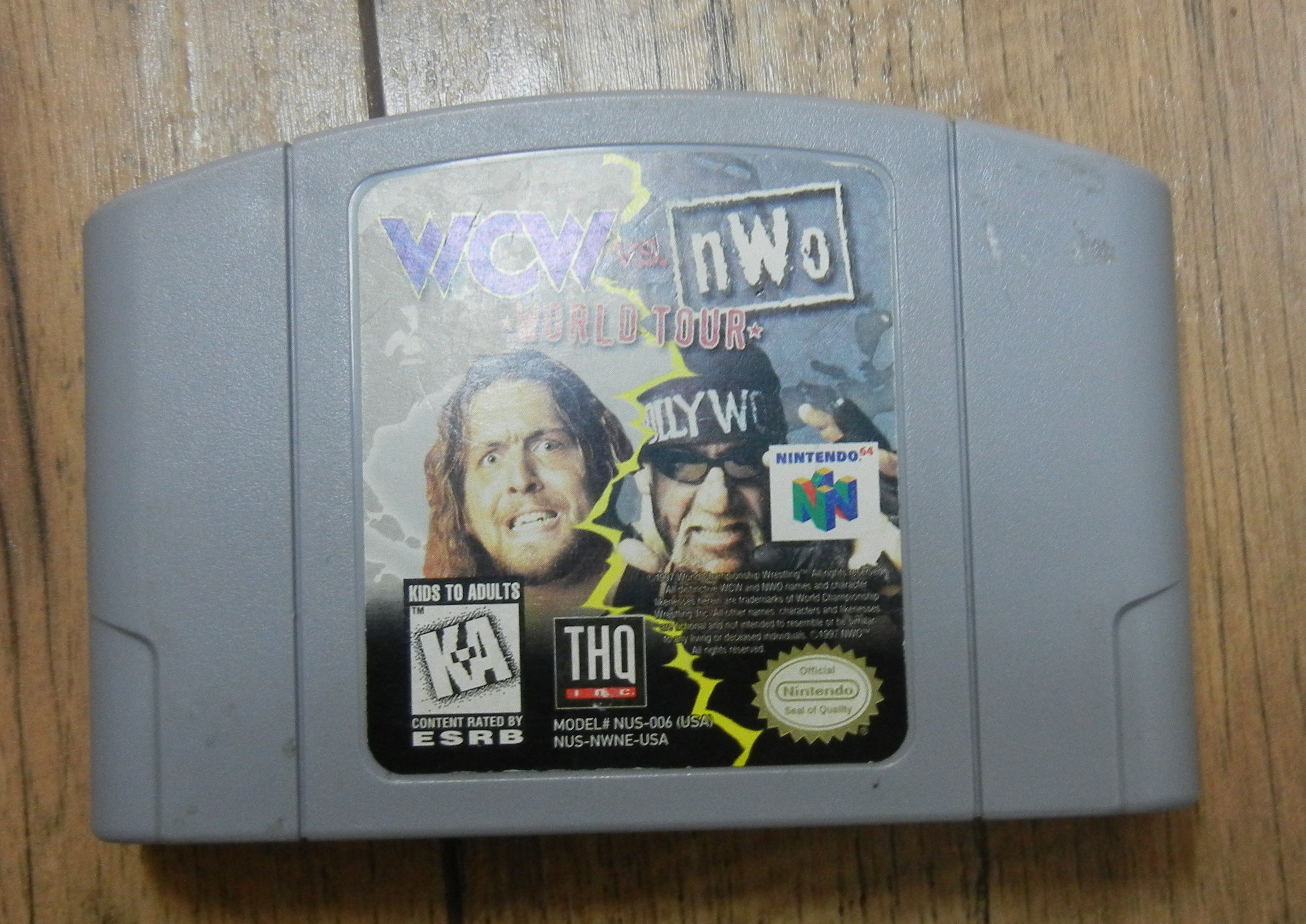 N64 WRESTLING WCW NWO WROLD TOUR
