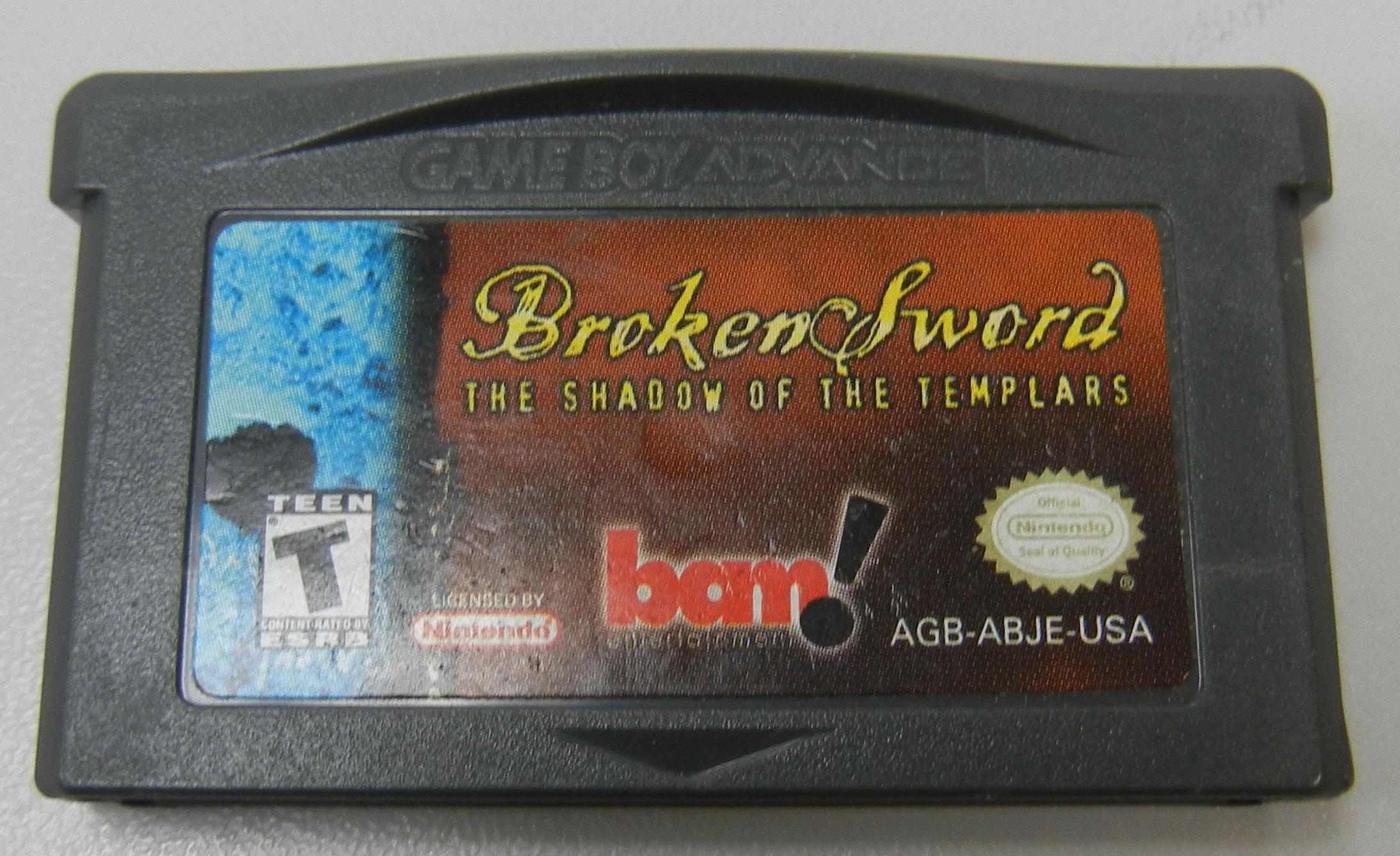 BROKEN SWORD THE SHADOW OF THE TEMPLARS - GAMEBOY ADVANCE GAME