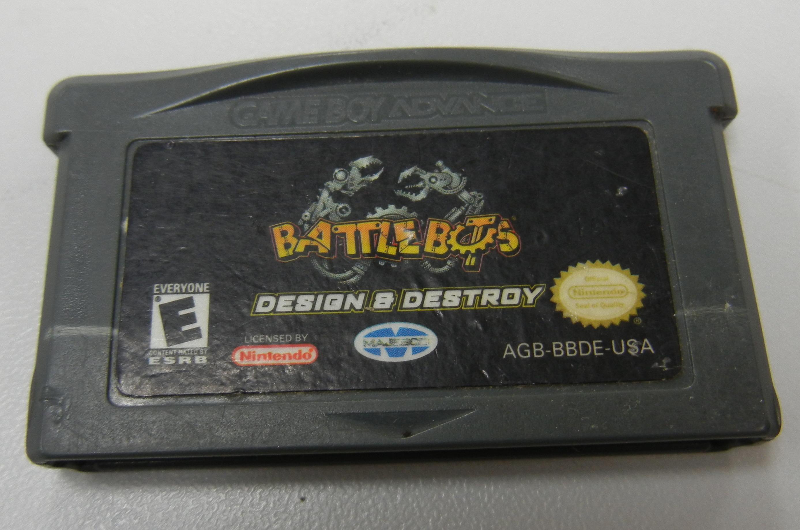 BATTLE BOTS - DESIGN & DESTROY - GAMEBOY ADVANCE GAMES
