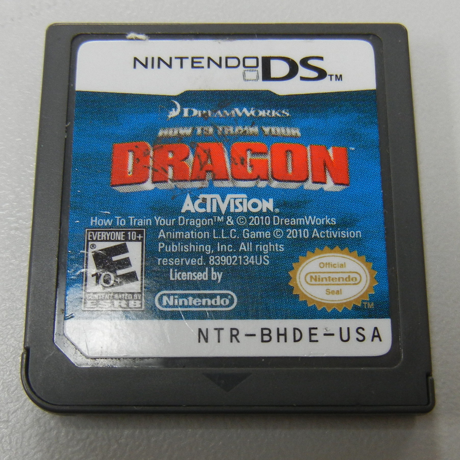 HOW TO TRAIN YOUR DRAGON - NINTENDO DS GAME