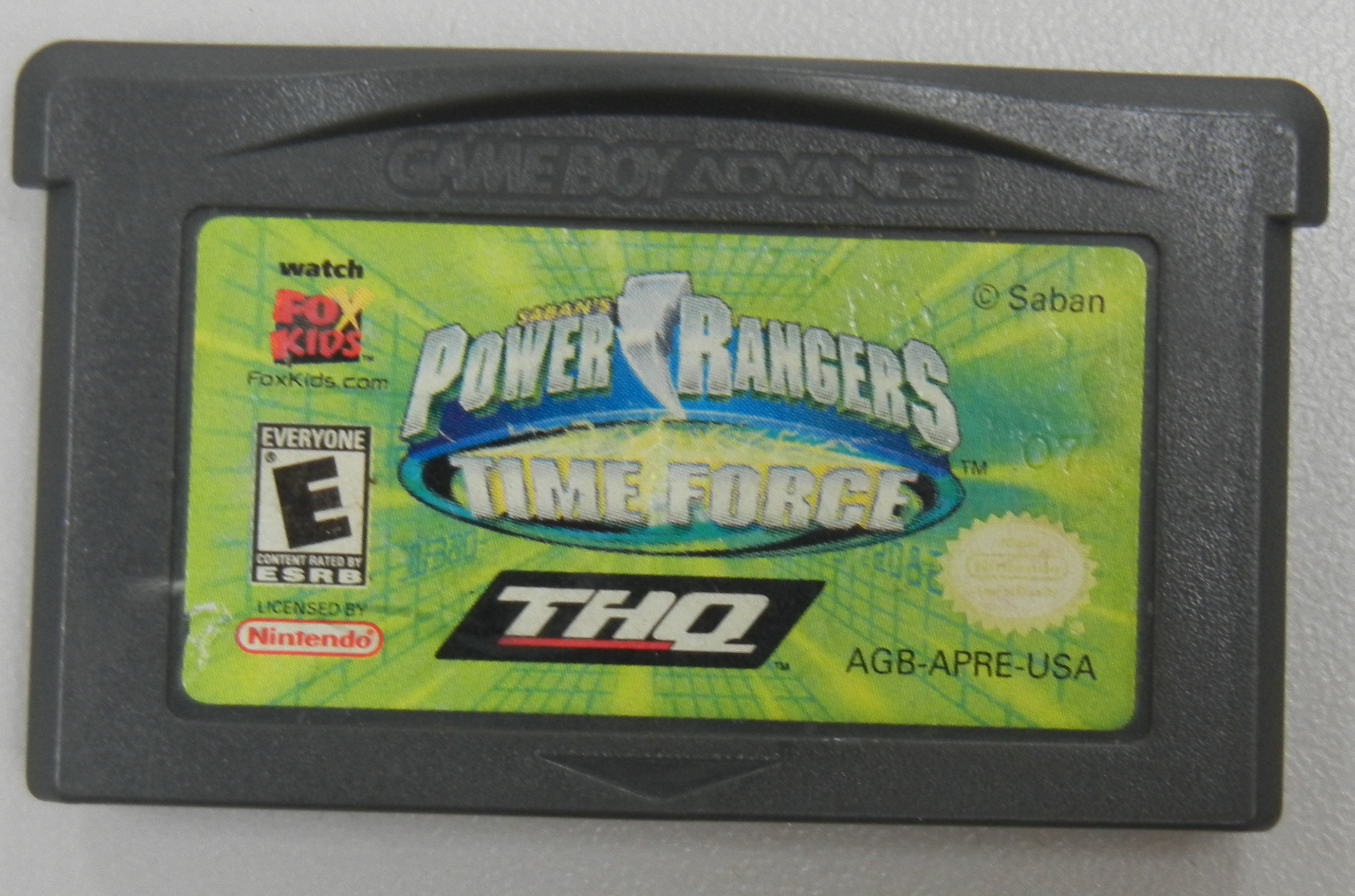 GAMEBOY ADVANCE POWER RANGERS TIME FORCE