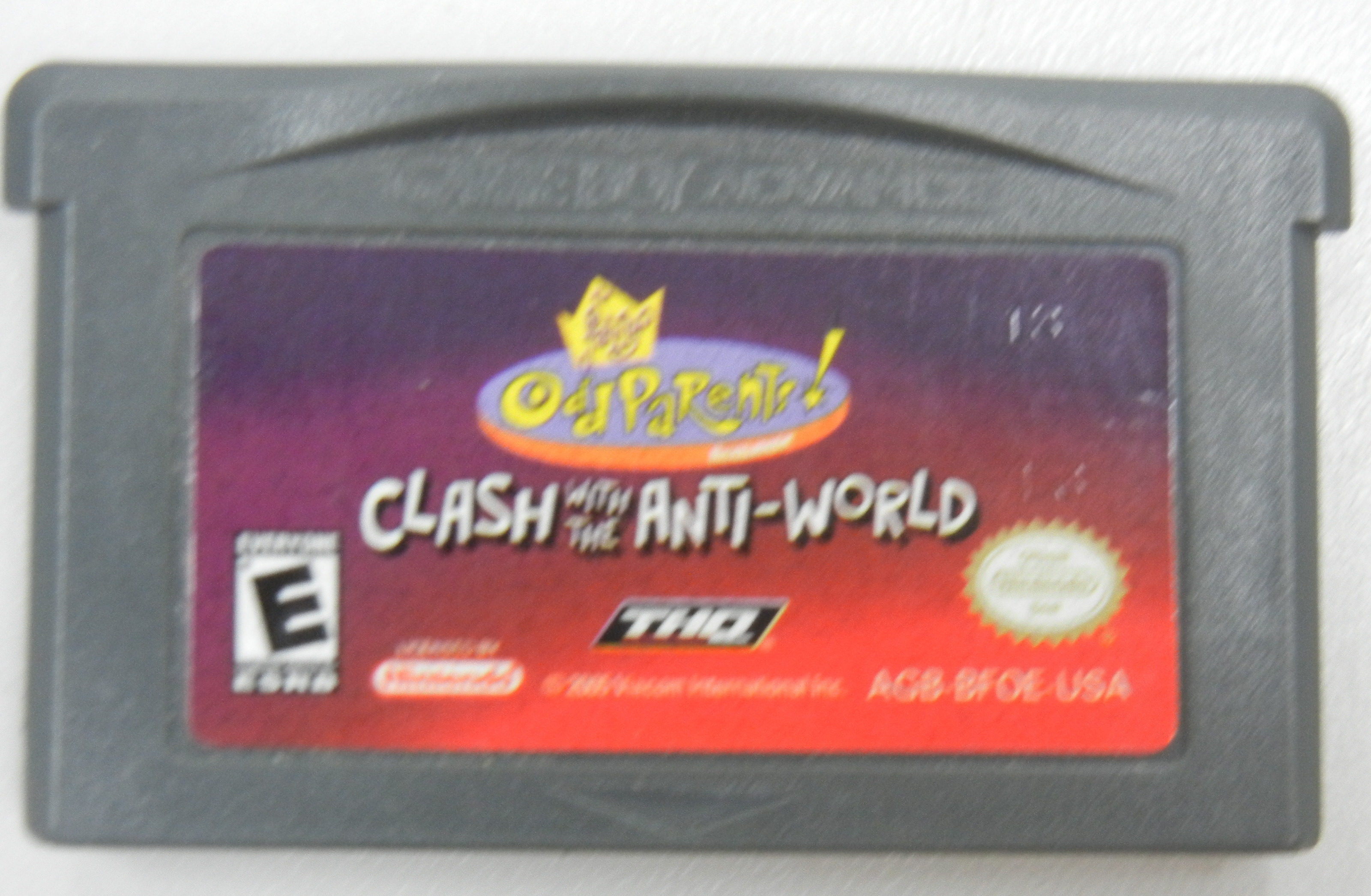 FAIRLY ODD PARENTS CLASH WITH THE ANTI WORLD - GAMEBOY ADVANCE GAME