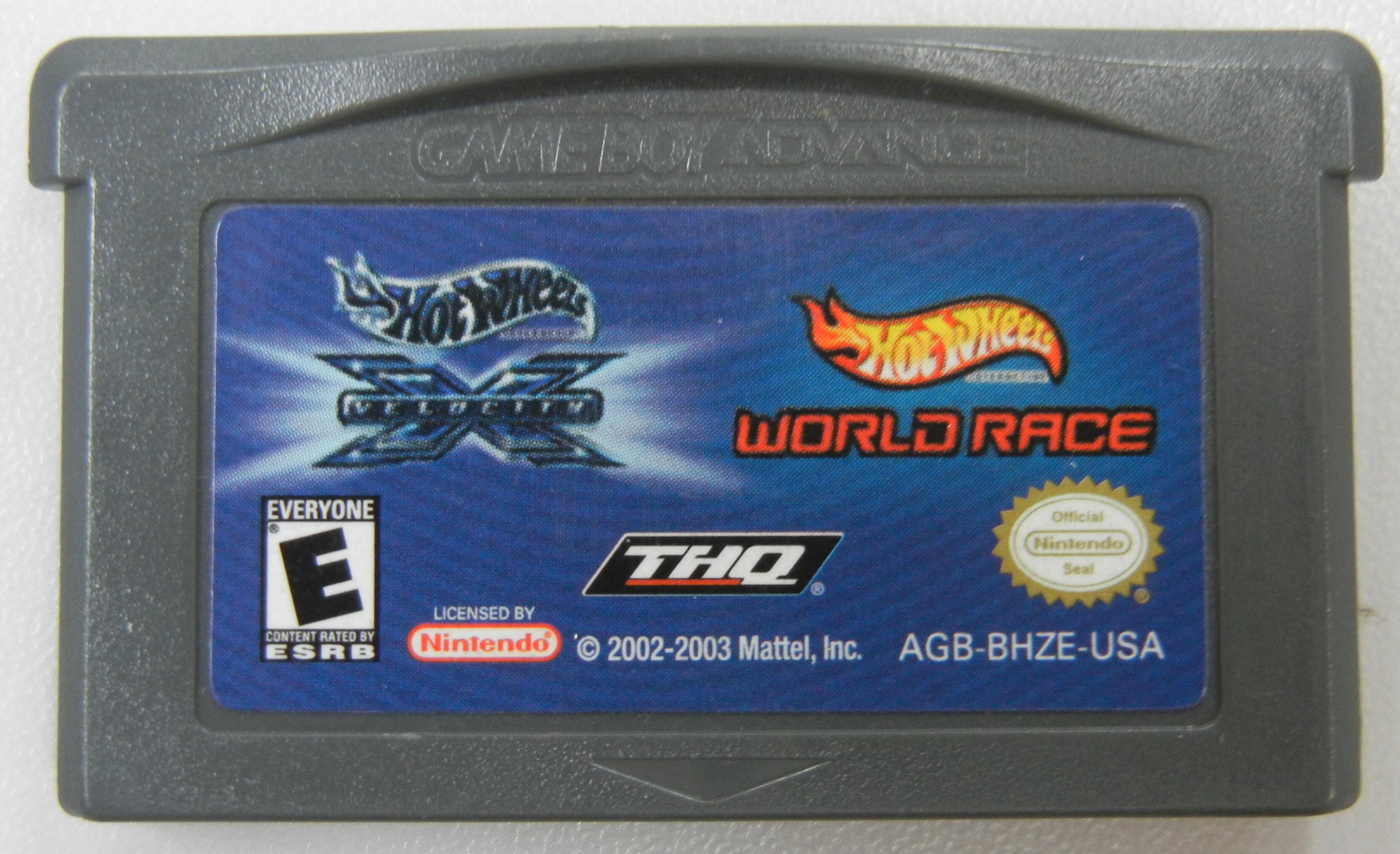 HOT WHEELS WORLD RACE - GAMEBOY ADVANCE GAMES