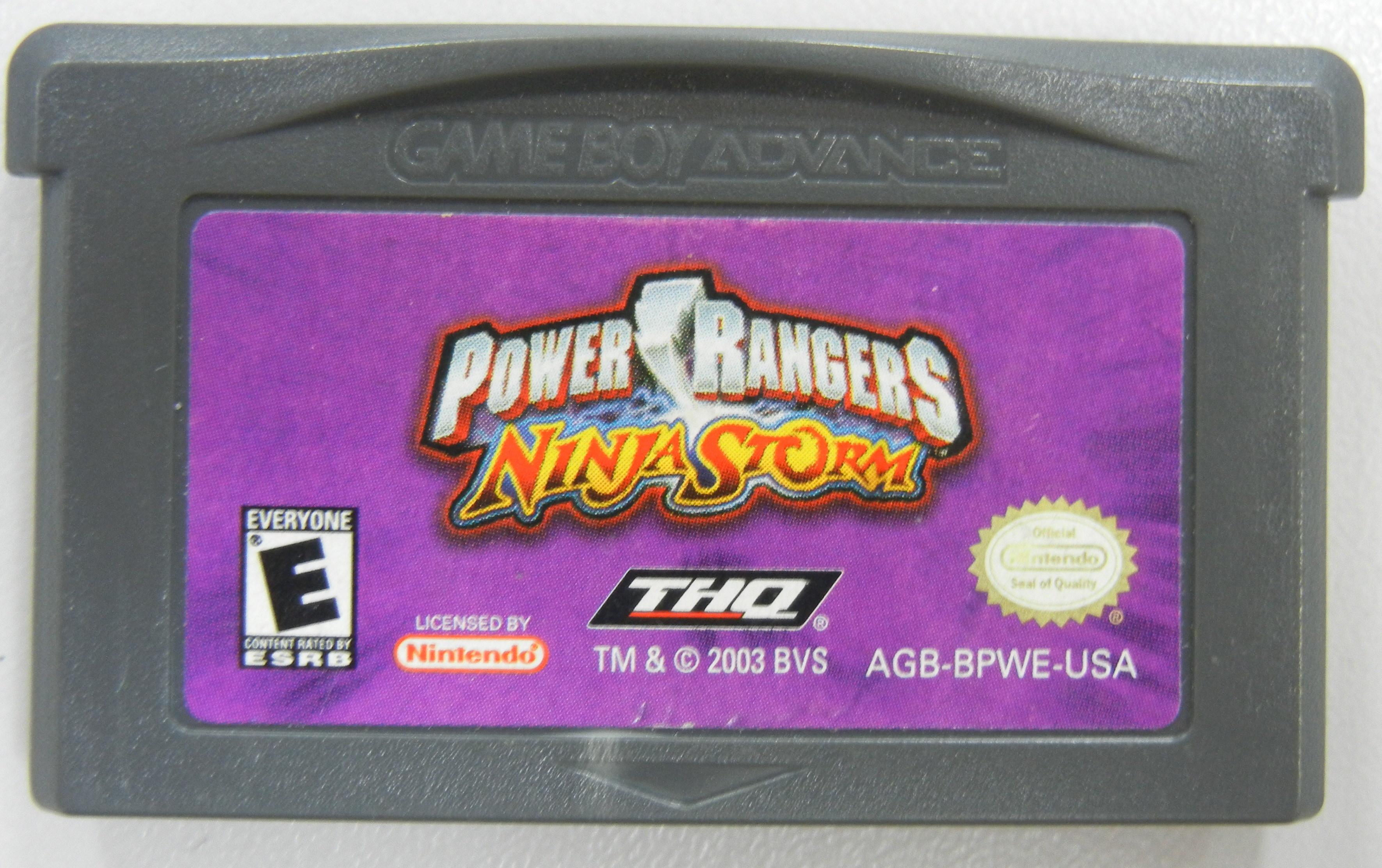 POWER RANGERS NINJA STORM - GAMEBOY ADVANCE GAME