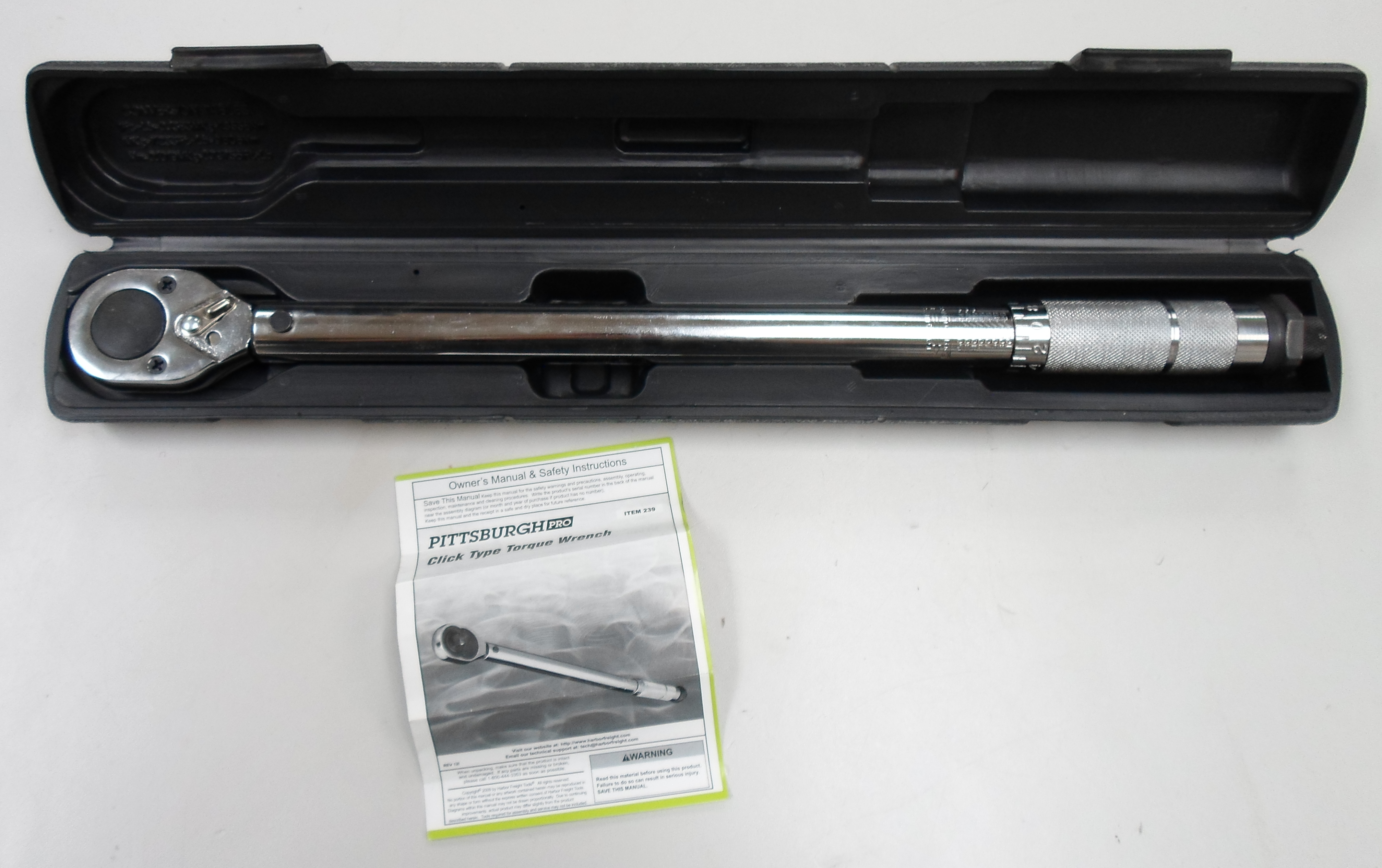 PITTSBURG - CLICK TYPE  - TORQUE WRENCH