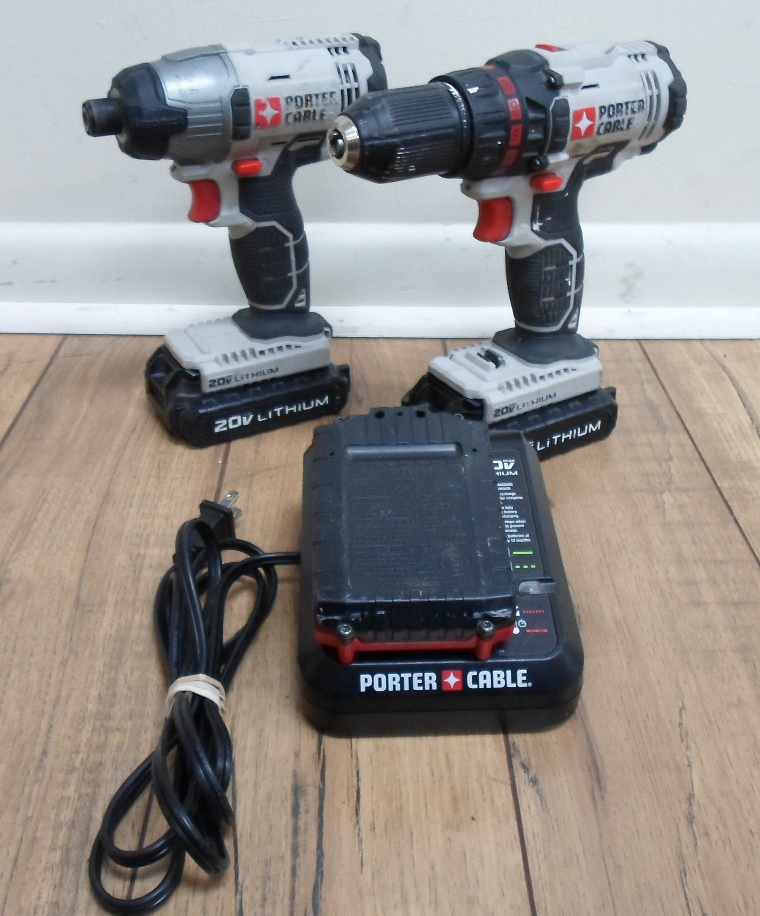 PORTER-CABLE - 20V LITHIUM - TWO DRILL SET