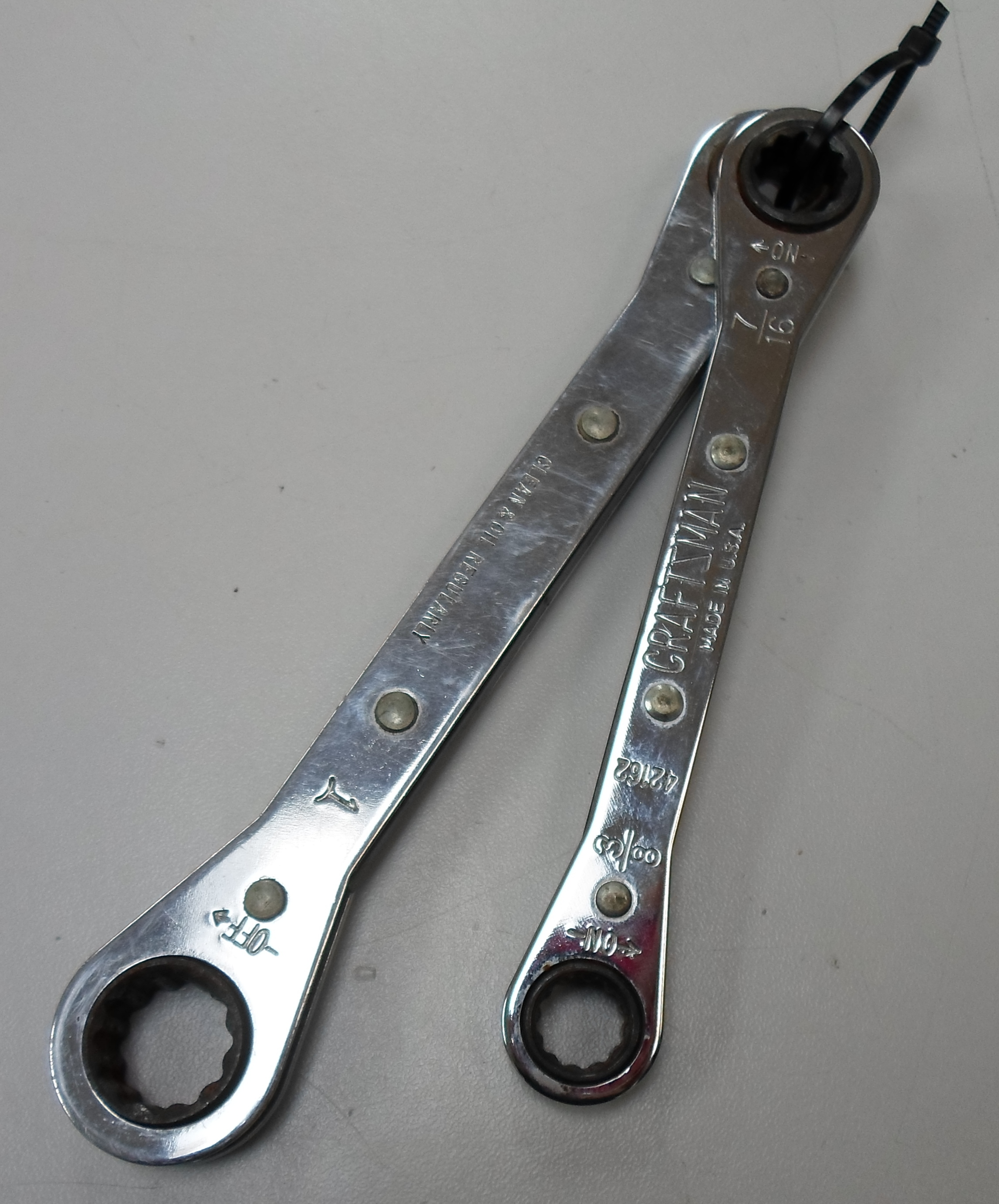 CRAFTSMAN - RATCHETING WRENCHES - 2 SAE MEASUREMENT