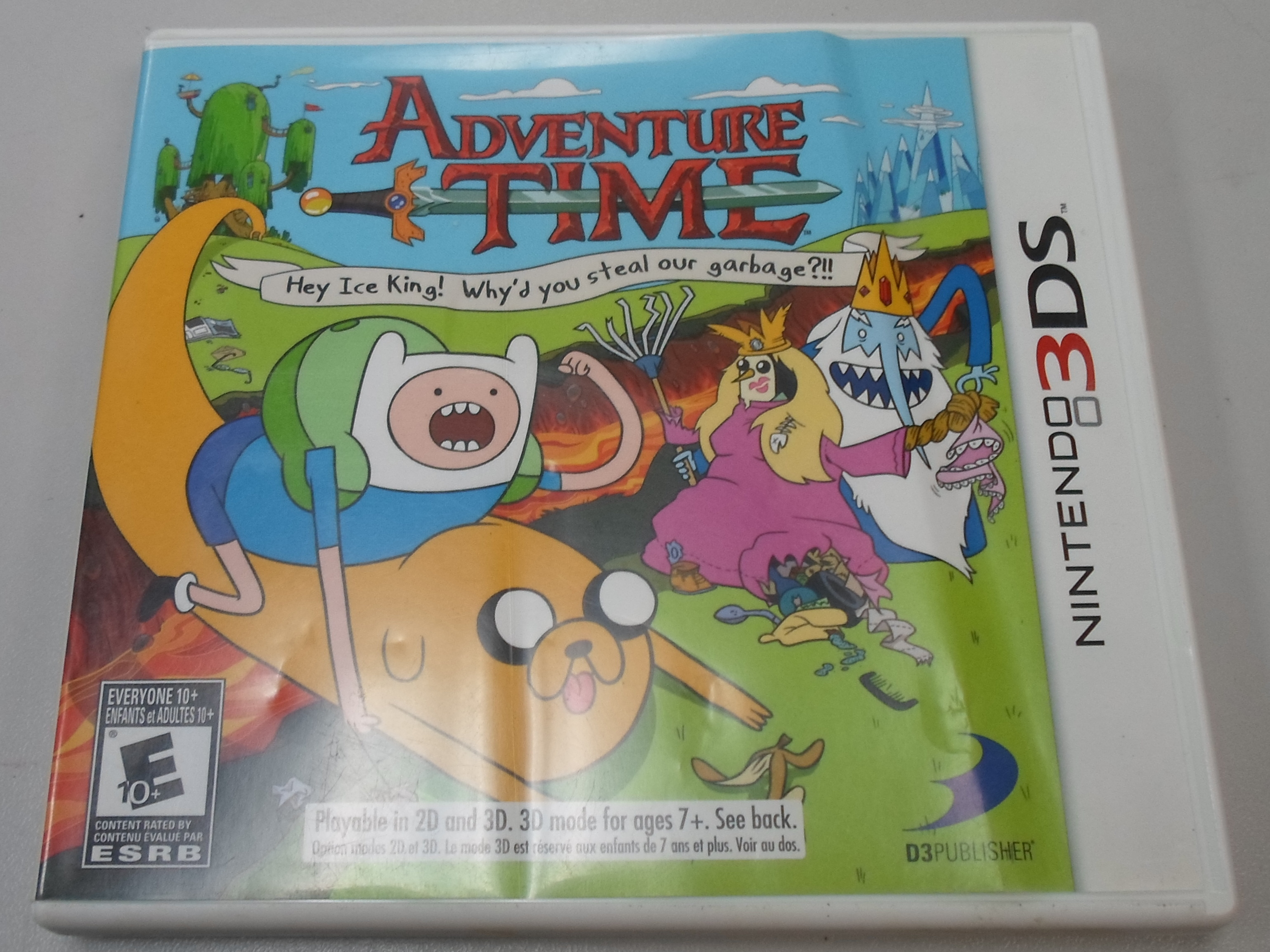 ADVENTURE TIME: HEY ICE KING!  - 3DS GAME