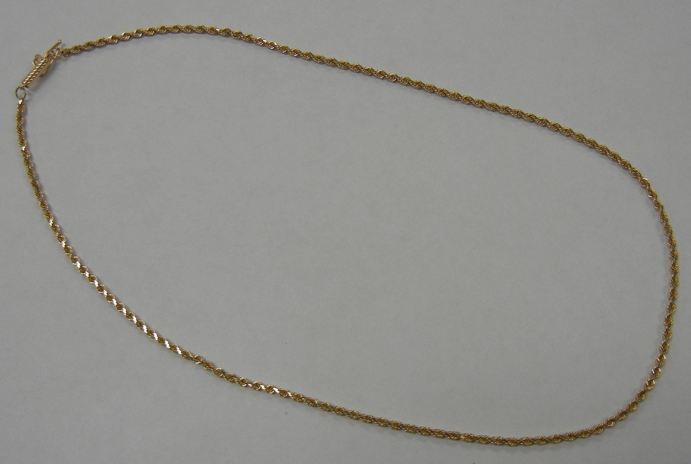 14 KT YELLOW GOLD SOLID ROPE CHAIN