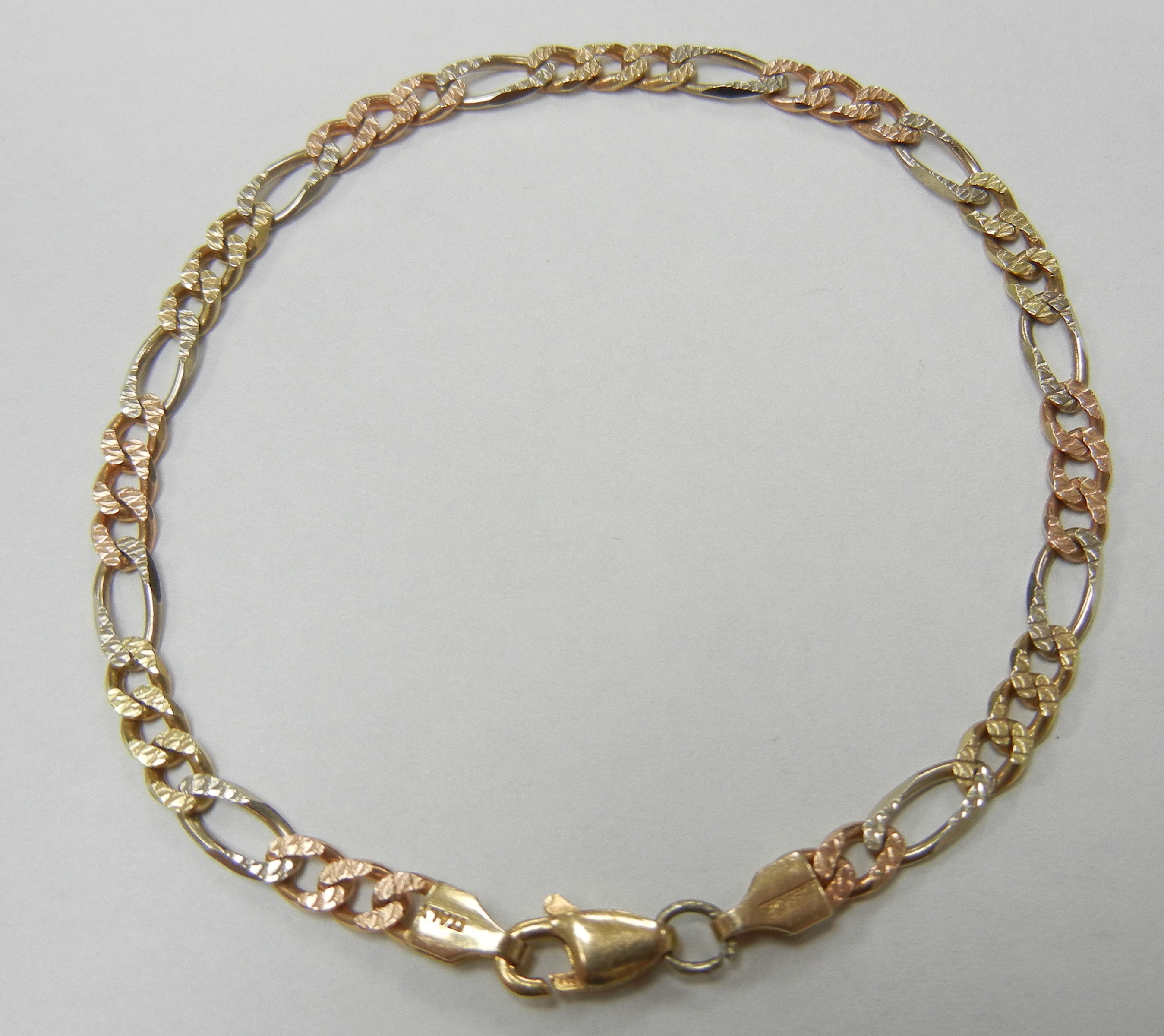 14KT MULTI COLORED GOLD FIGARO STYLE 7
