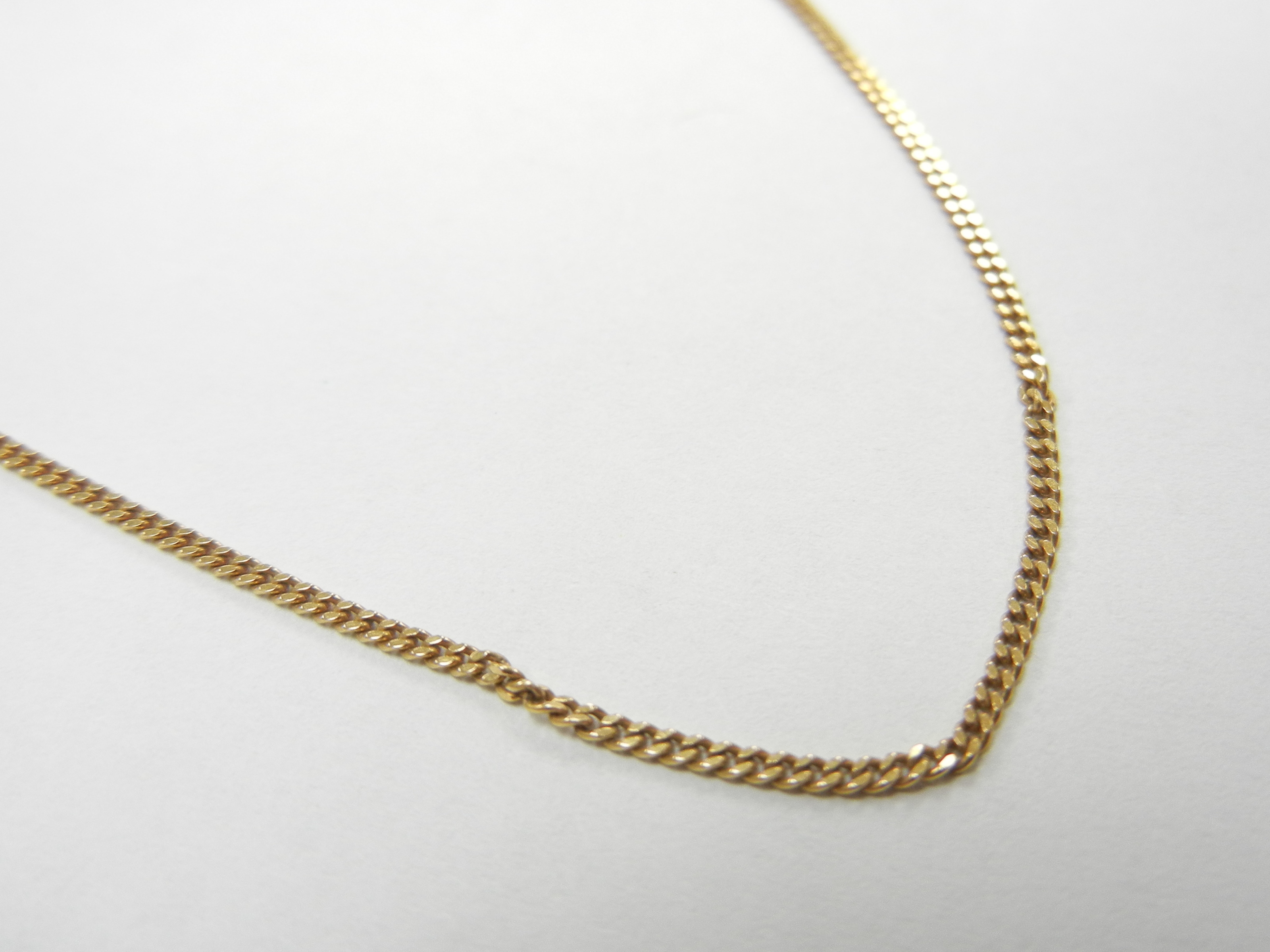 18 KT YELLOW GOLD THIN MIAMI CURB LINK 16