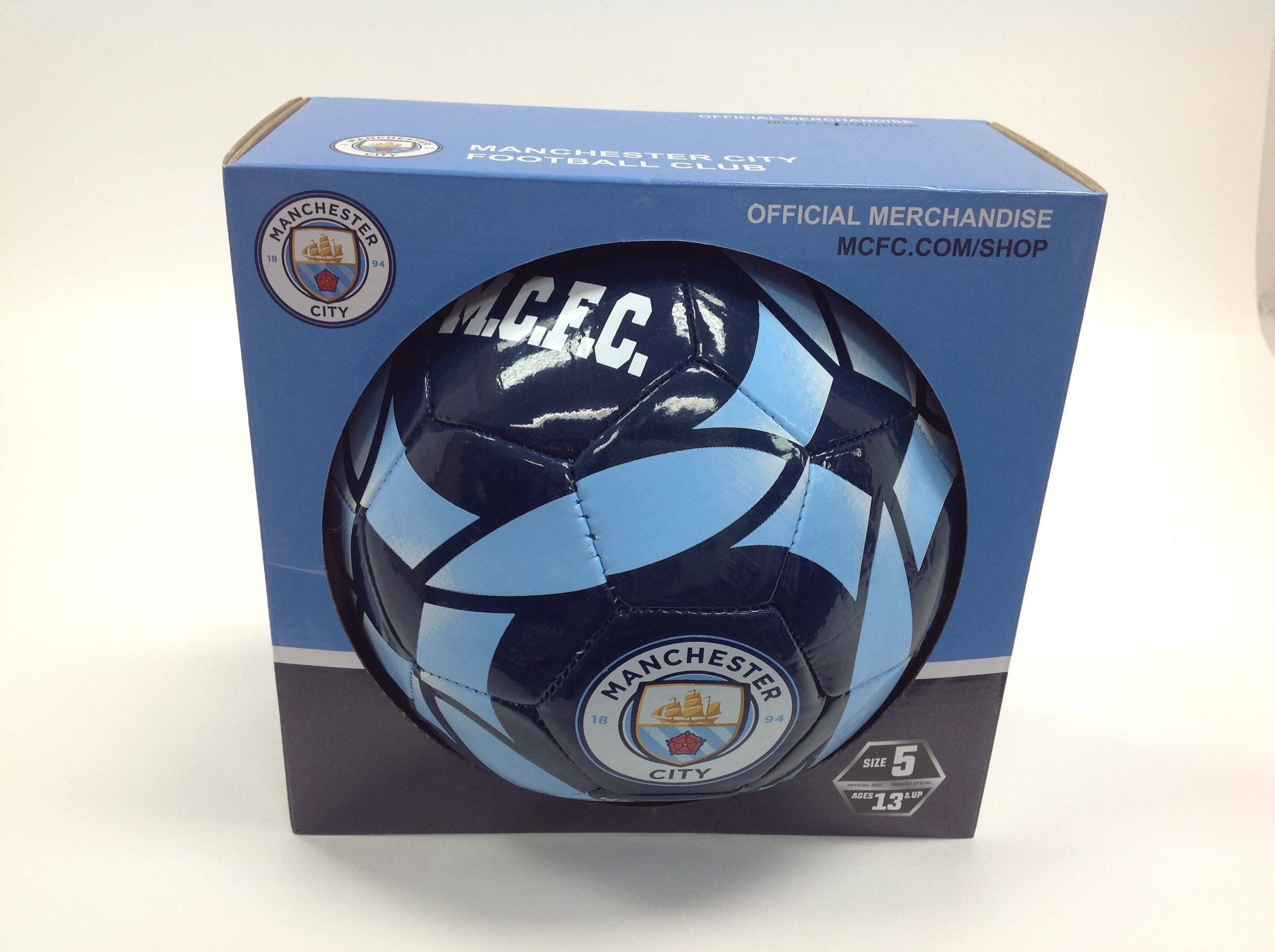 ICON SPORTS Manchester City SOCCER BALL SIZE 5 AGE 13 AND UP