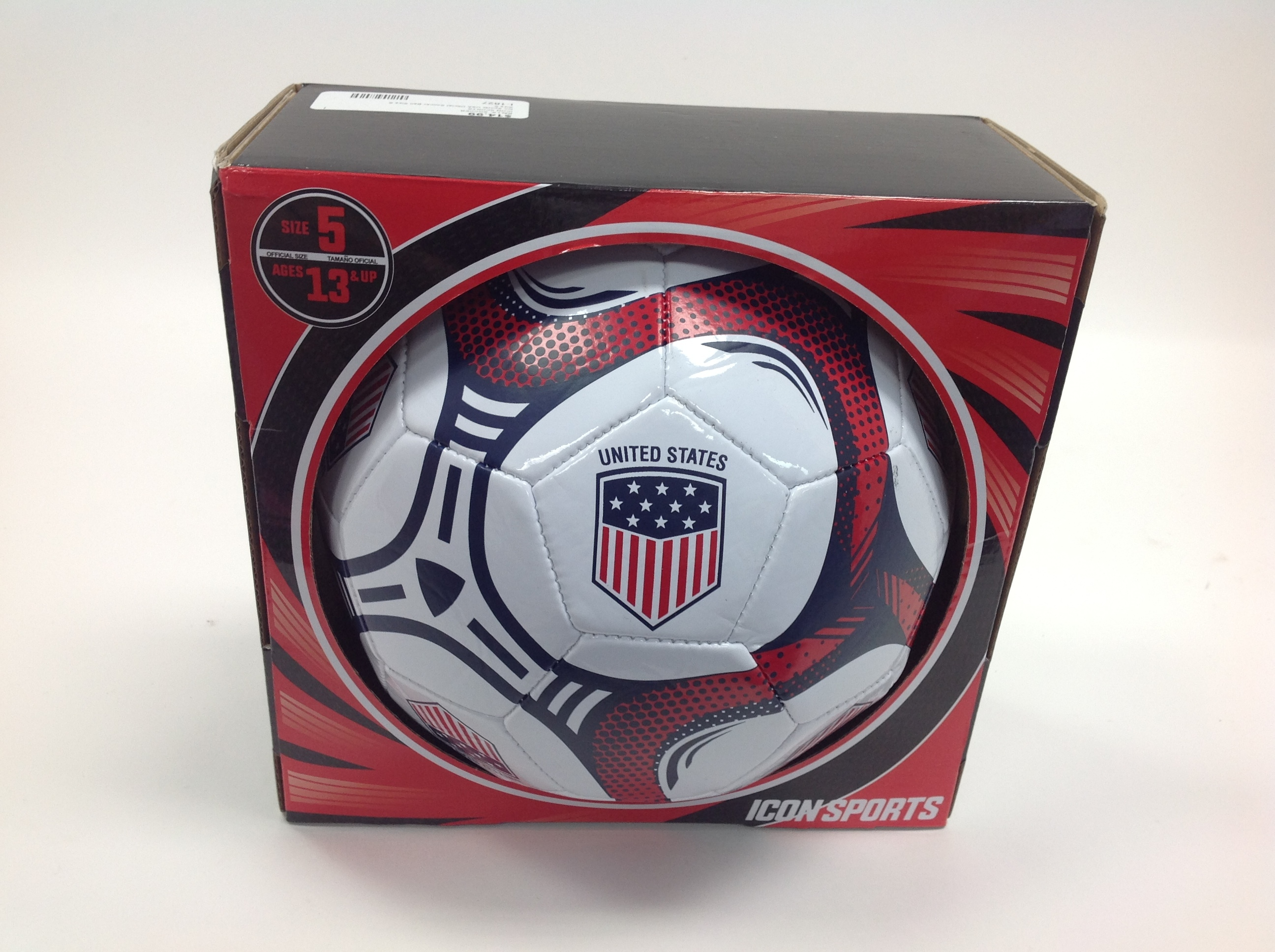 ICON SPORTS USA Official SOCCER BALL SIZE 5 AGE 13 AND UP
