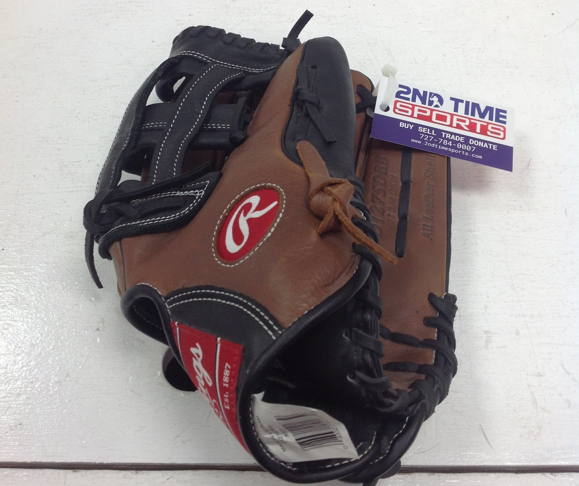 RAWLINGS D1275DBB RIGHT HANDED THROWER BASEBALL GLOVE BASEBALL 12.75