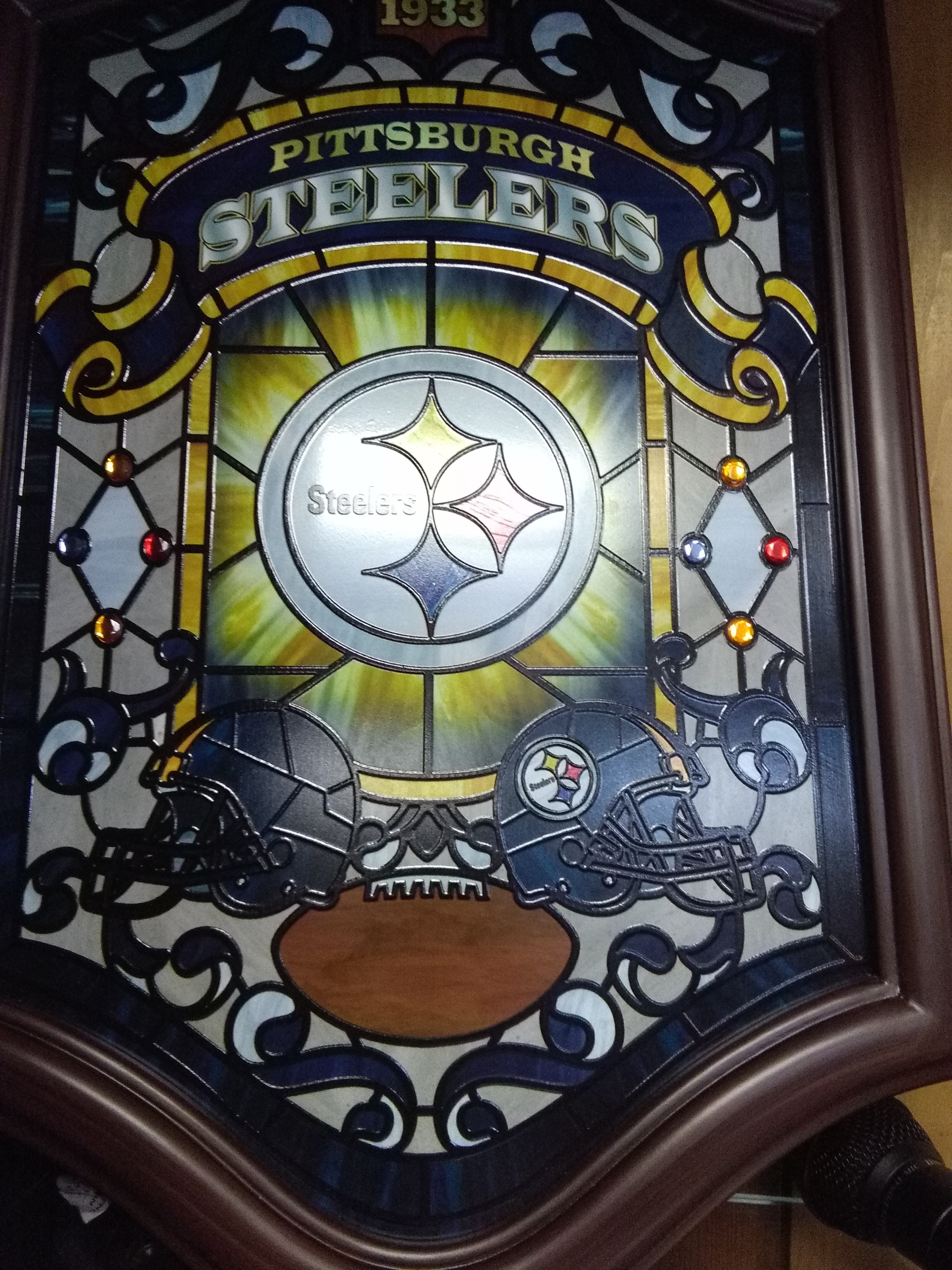 2016 Pittsburgh Steelers Illuminated Stained Glass