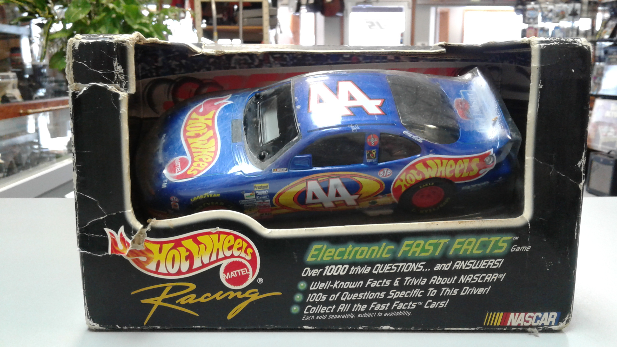 Nascar Kyle Petty Hot Wheels Car, Electronic Fast Facts Game