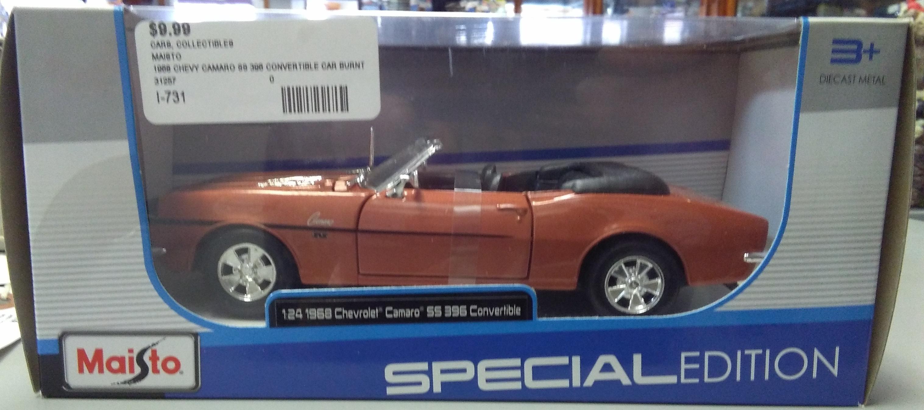 MAISTO Special Edition 1968 Chevrolet Camero SS 396 Convertible